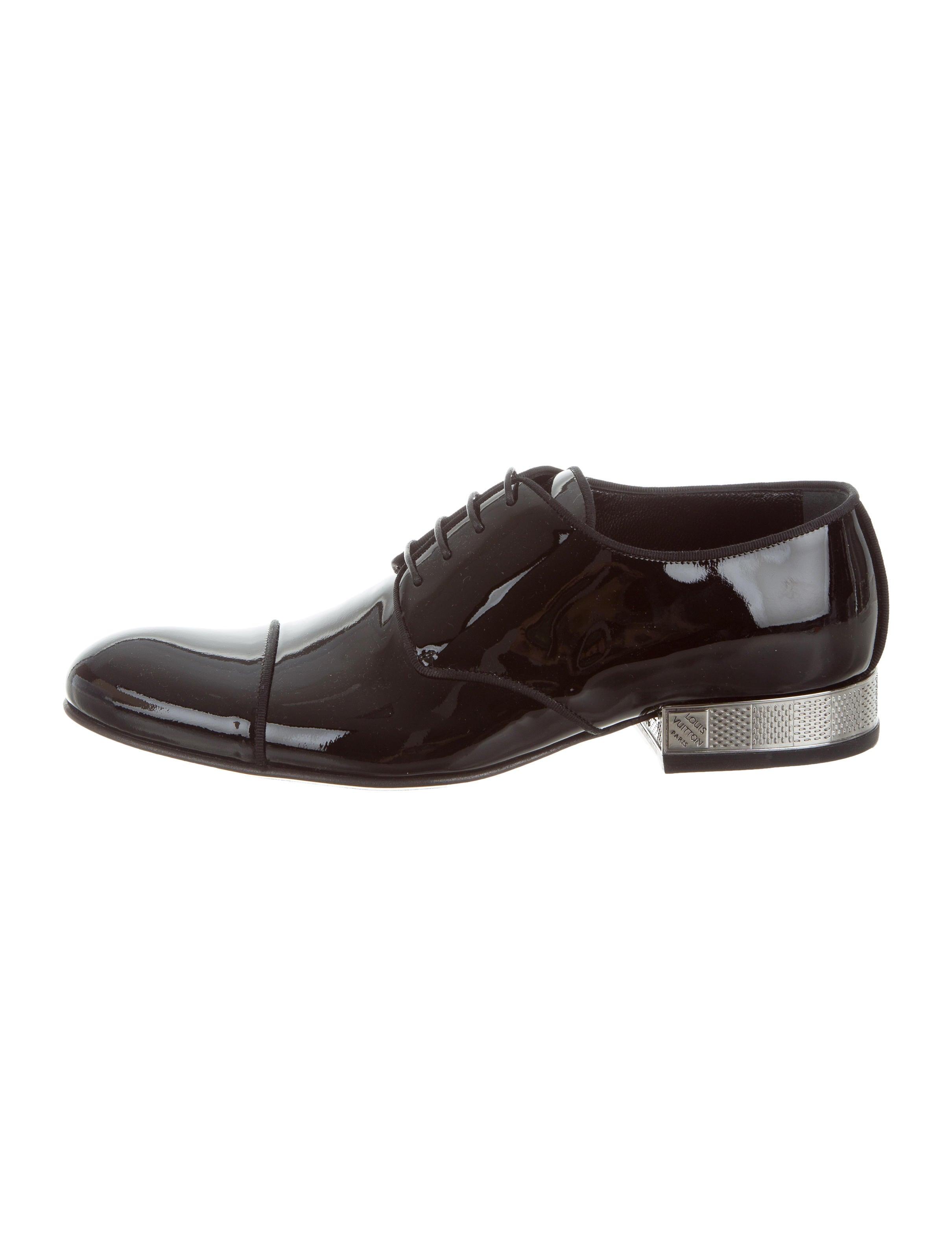 louis vuitton patent leather damier derby shoes w tags