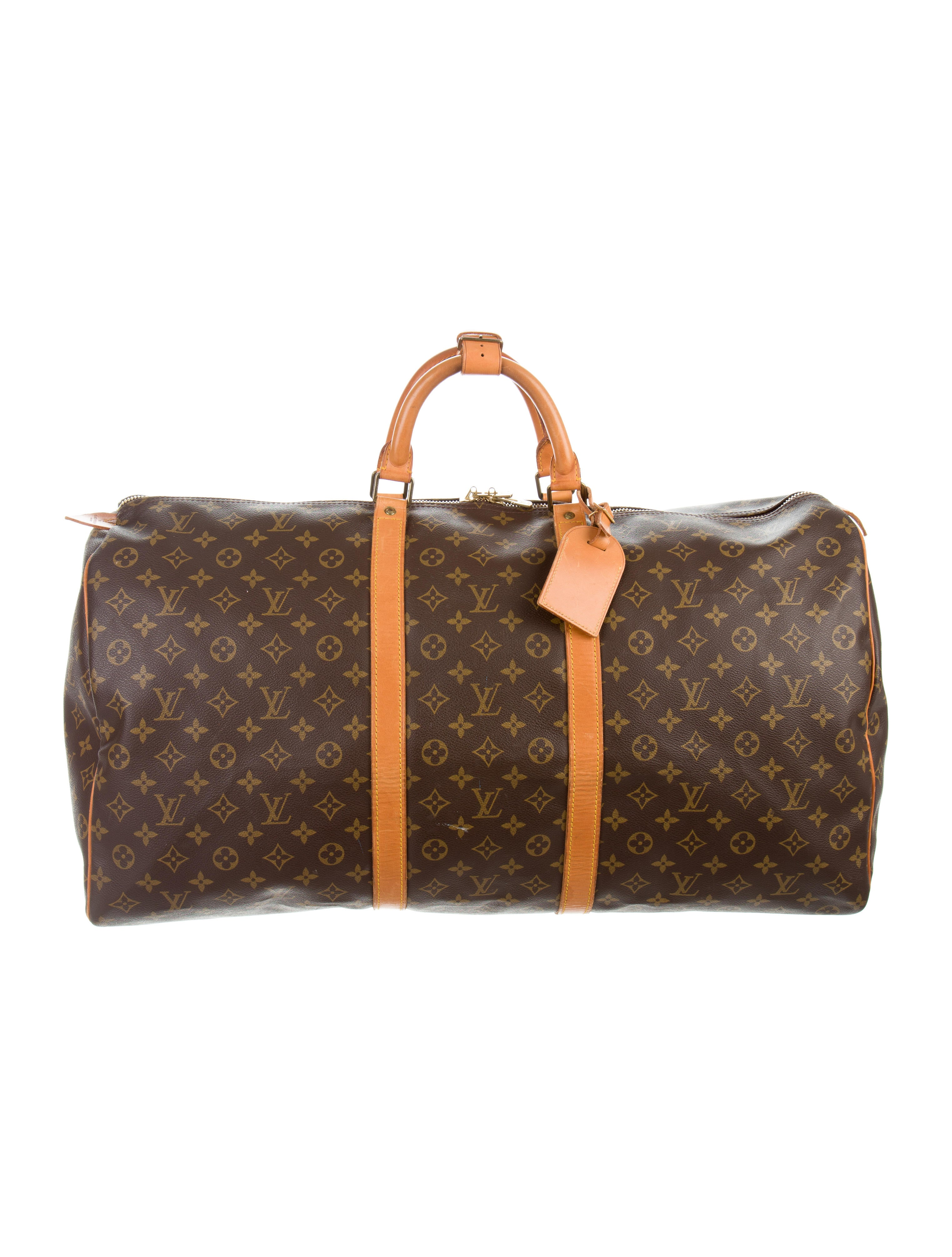louis vuitton monogram keepall 60 bags lou119281 the realreal. Black Bedroom Furniture Sets. Home Design Ideas