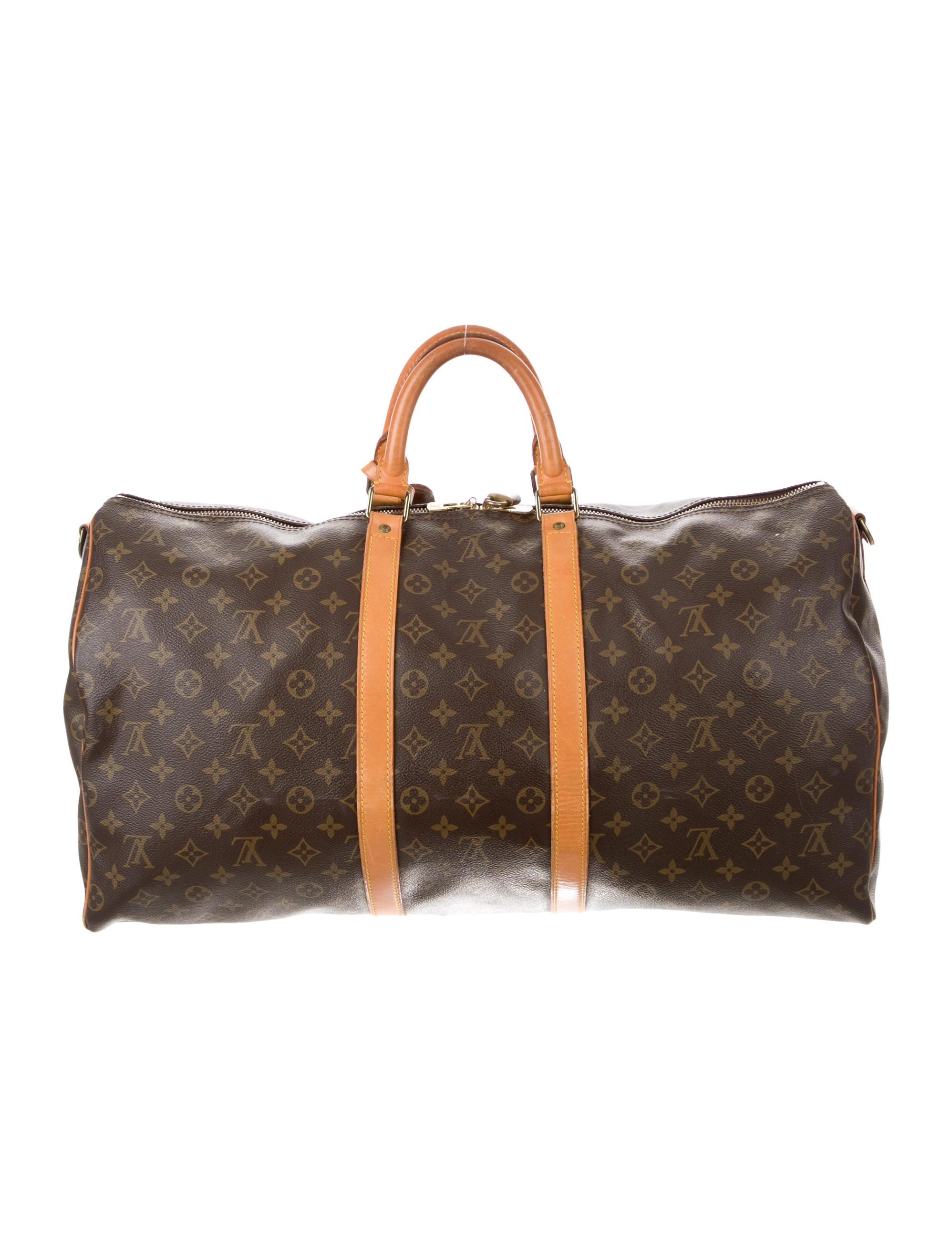 louis vuitton monogram keepall 55 bags lou119349 the realreal. Black Bedroom Furniture Sets. Home Design Ideas