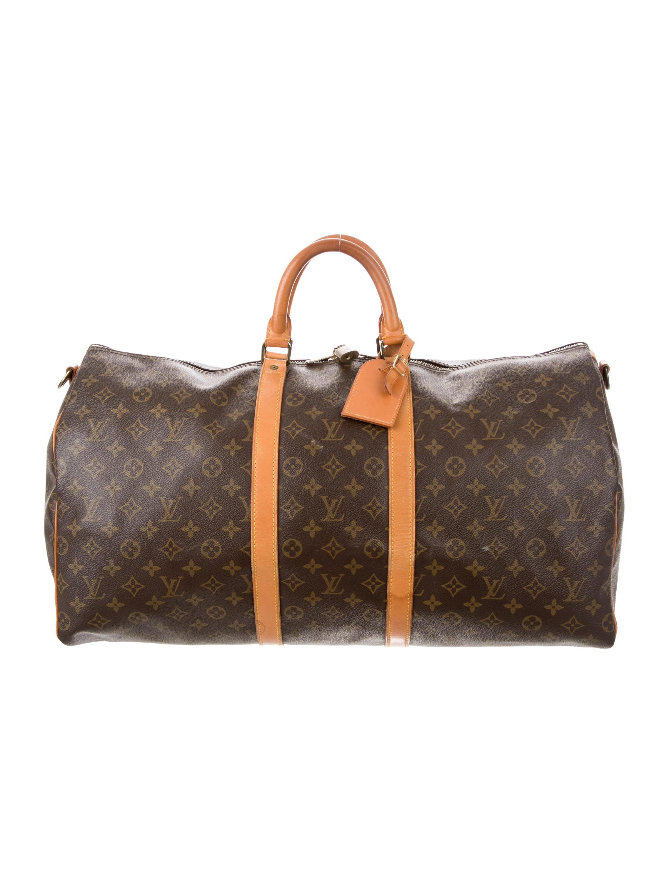 louis vuitton monogram keepall 55 bags lou119356 the realreal. Black Bedroom Furniture Sets. Home Design Ideas