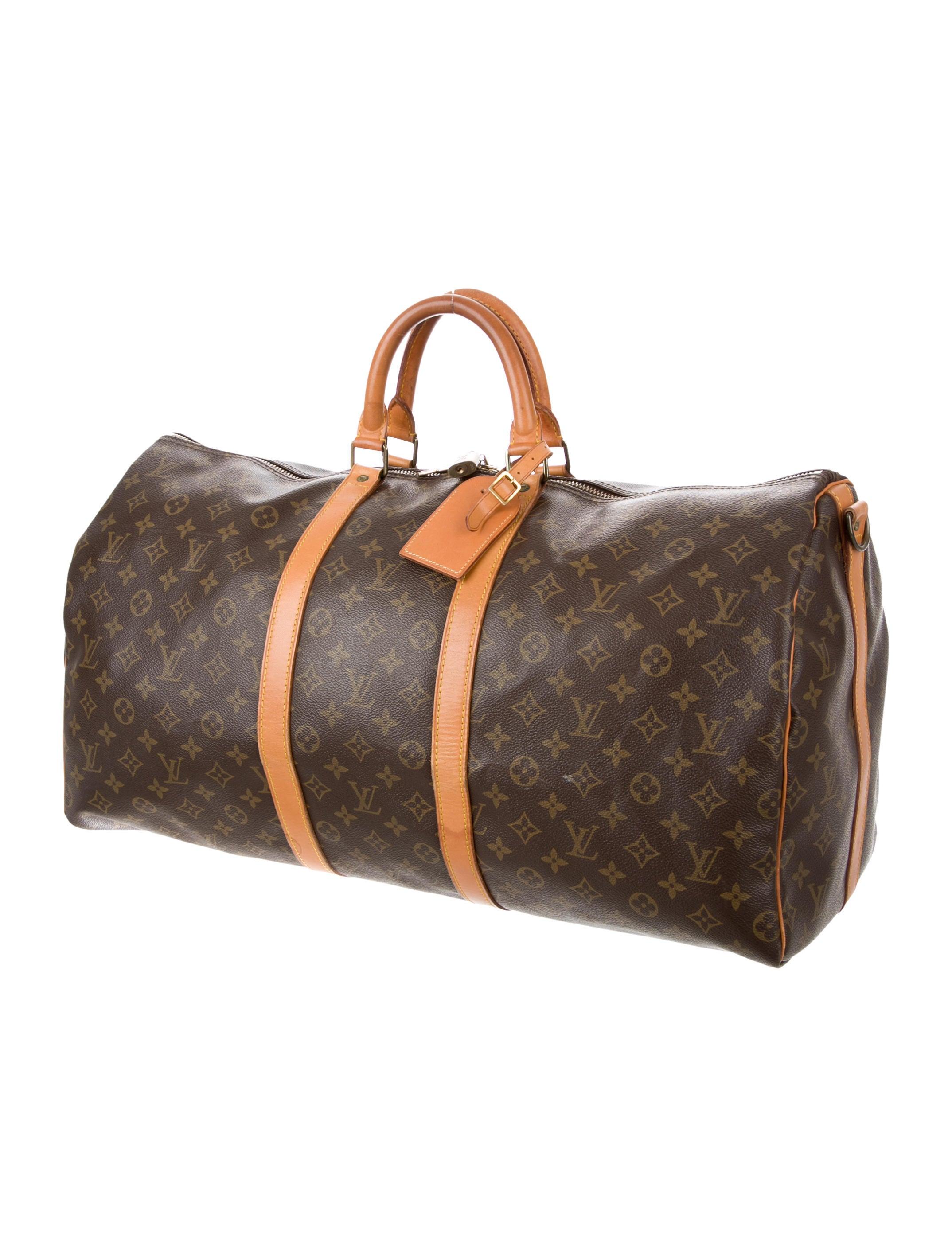 louis vuitton monogram keepall 55 bags lou119356 the realreal. Black Bedroom Furniture Sets. Home Design Ideas