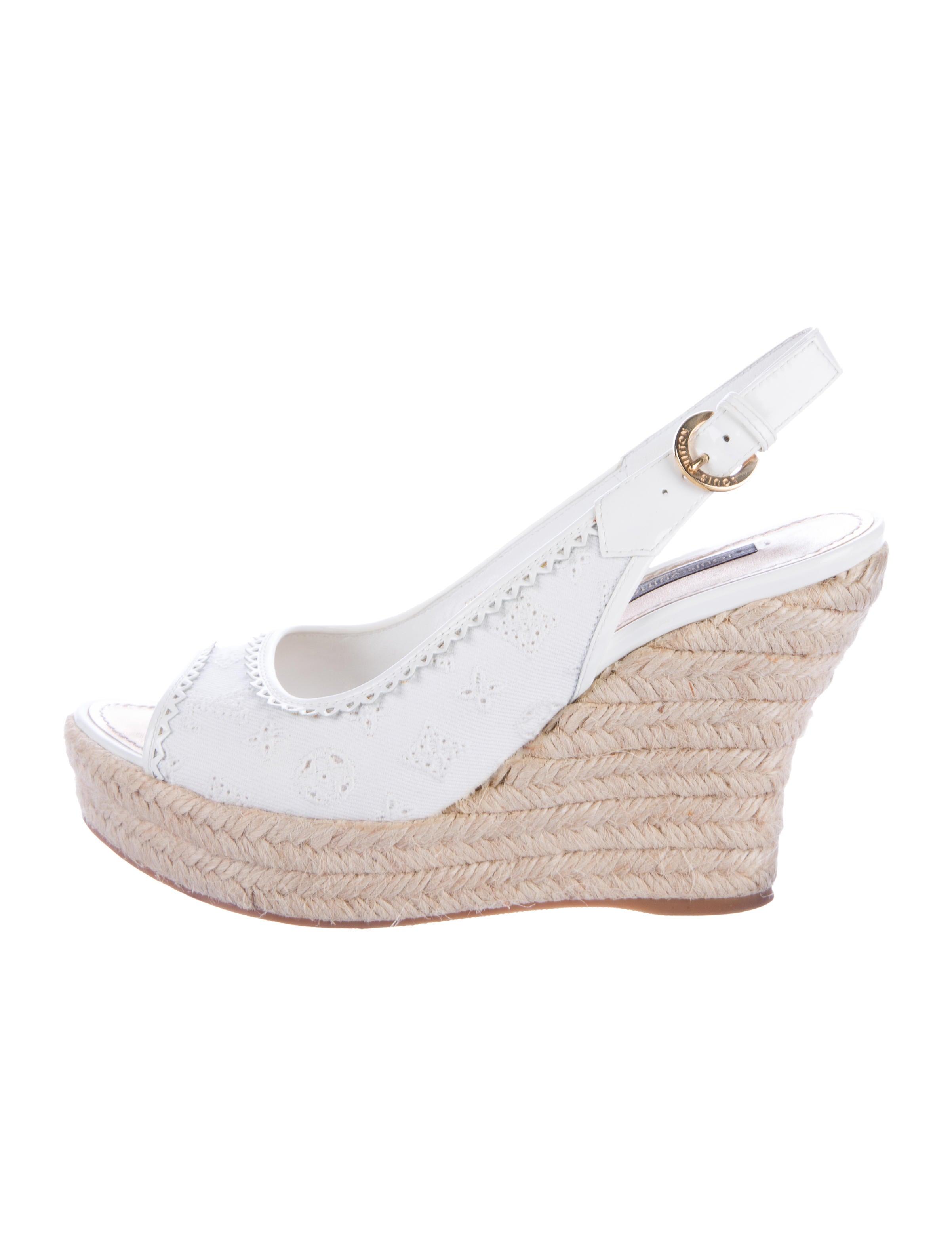 louis vuitton espadrille wedge sandals shoes lou119430