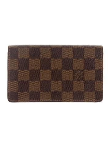 Louis vuitton damier porte monnaie tr sor wallet for Porte monnaie wallet