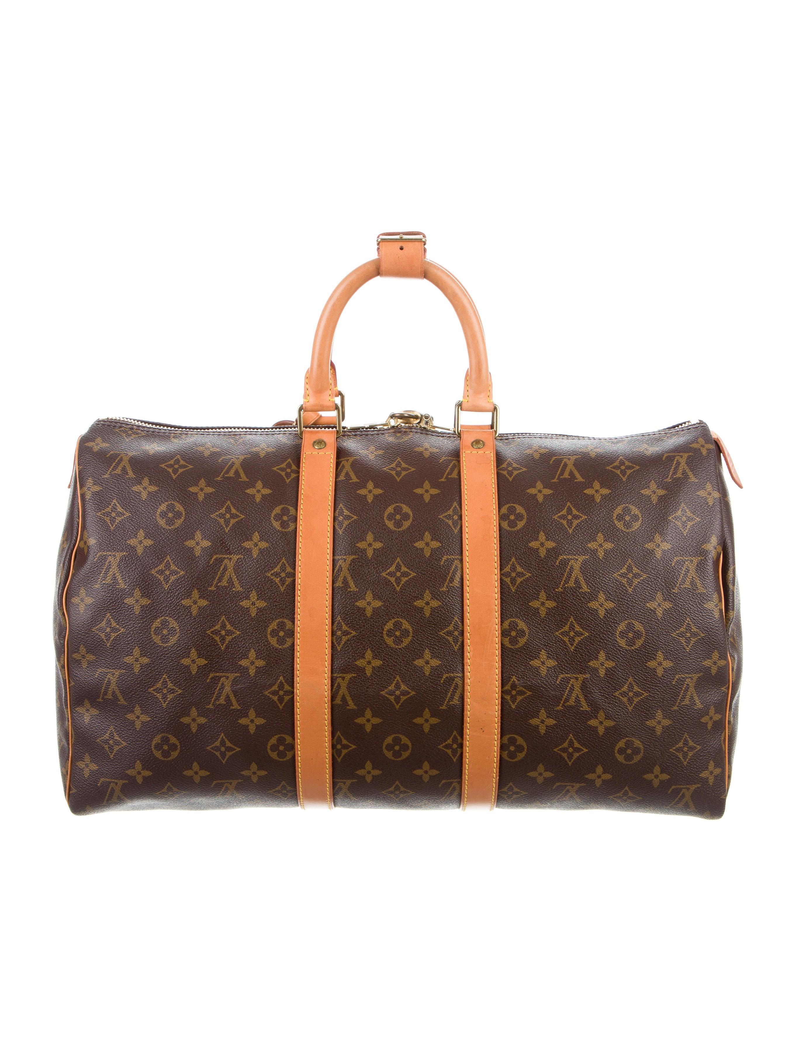 louis vuitton monogram keepall 45 handbags lou119930 the realreal. Black Bedroom Furniture Sets. Home Design Ideas