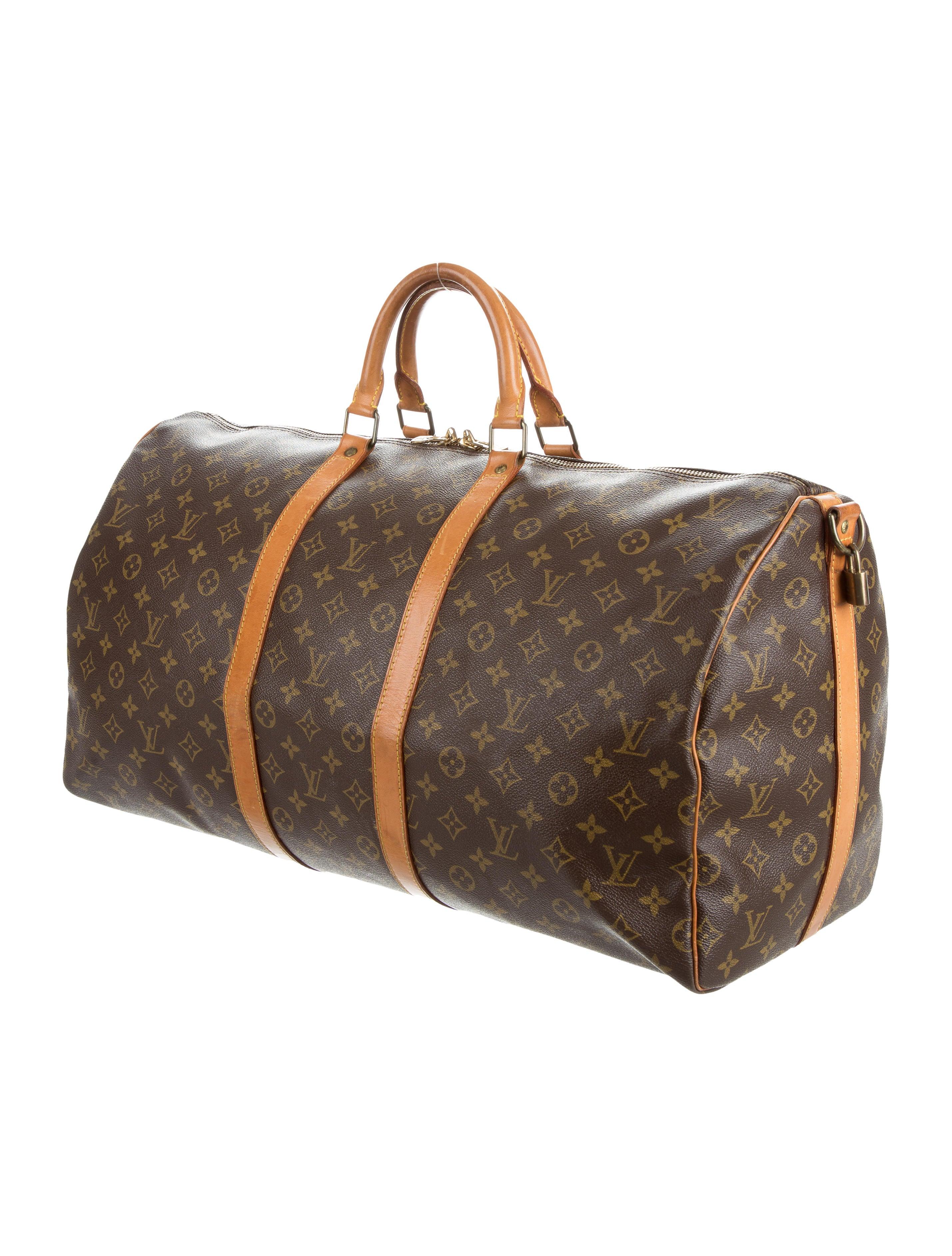 louis vuitton monogram keepall bandouli re 55 handbags. Black Bedroom Furniture Sets. Home Design Ideas
