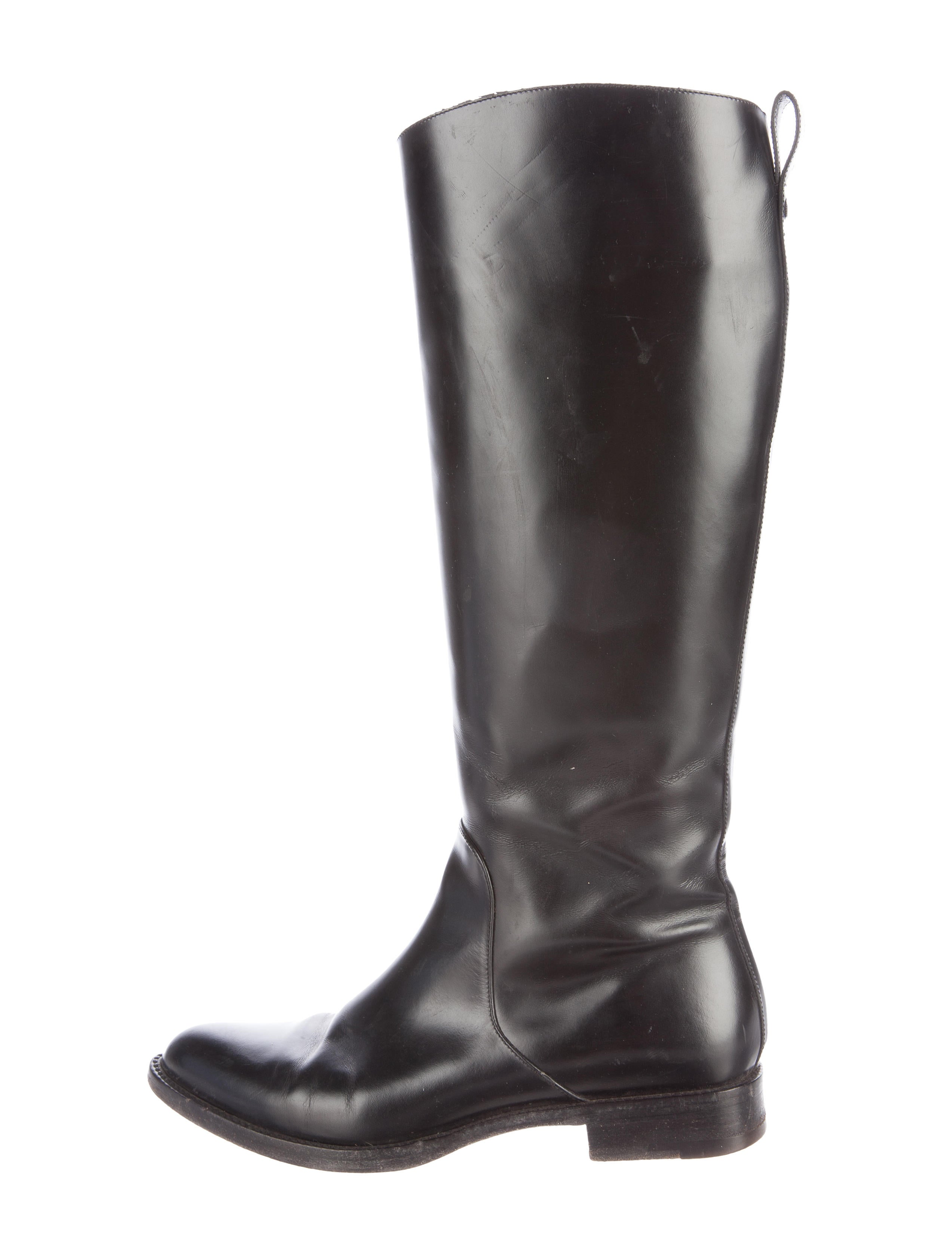 louis vuitton leather knee high boots shoes lou120098