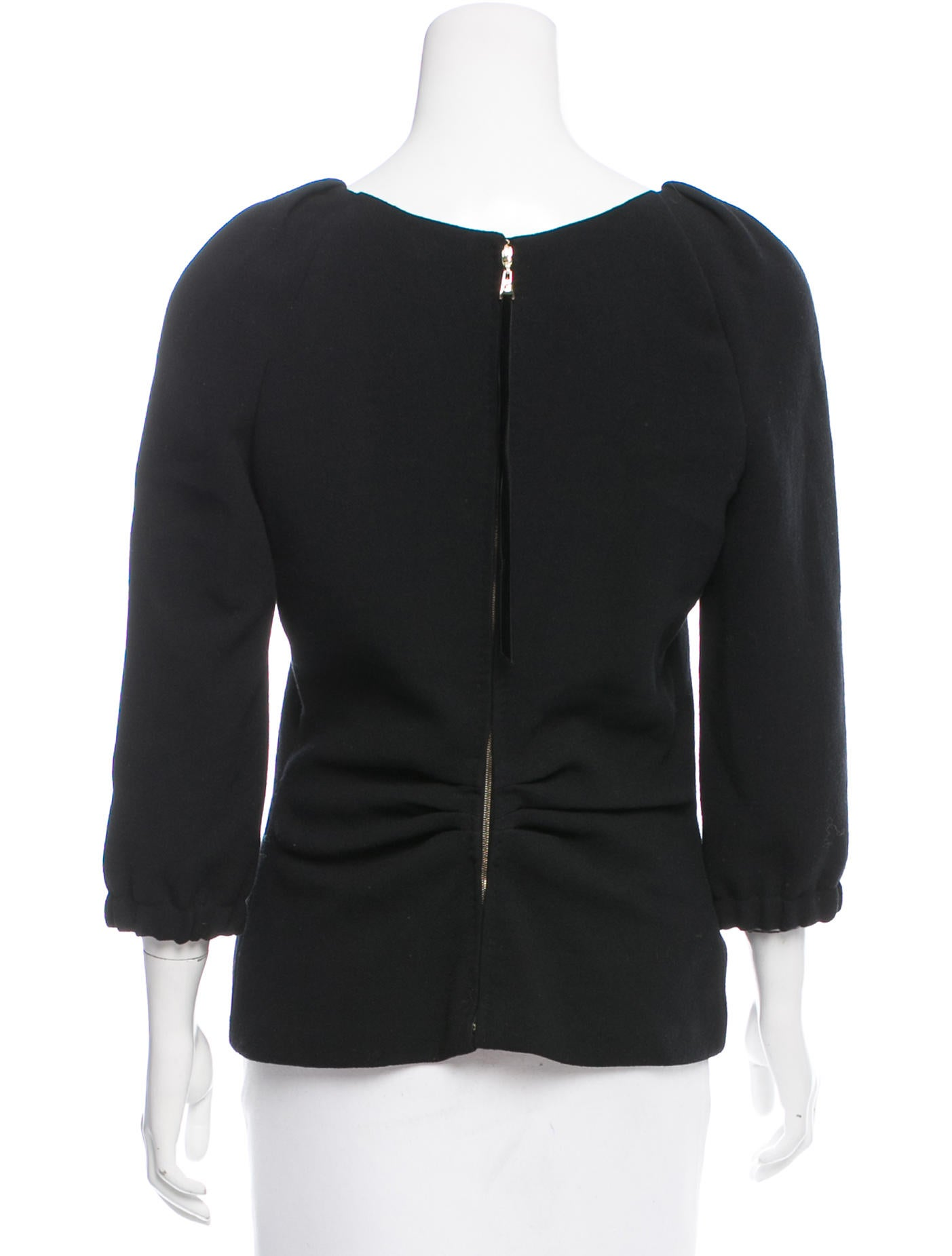 louis vuitton zip up wool blouse clothing lou120490