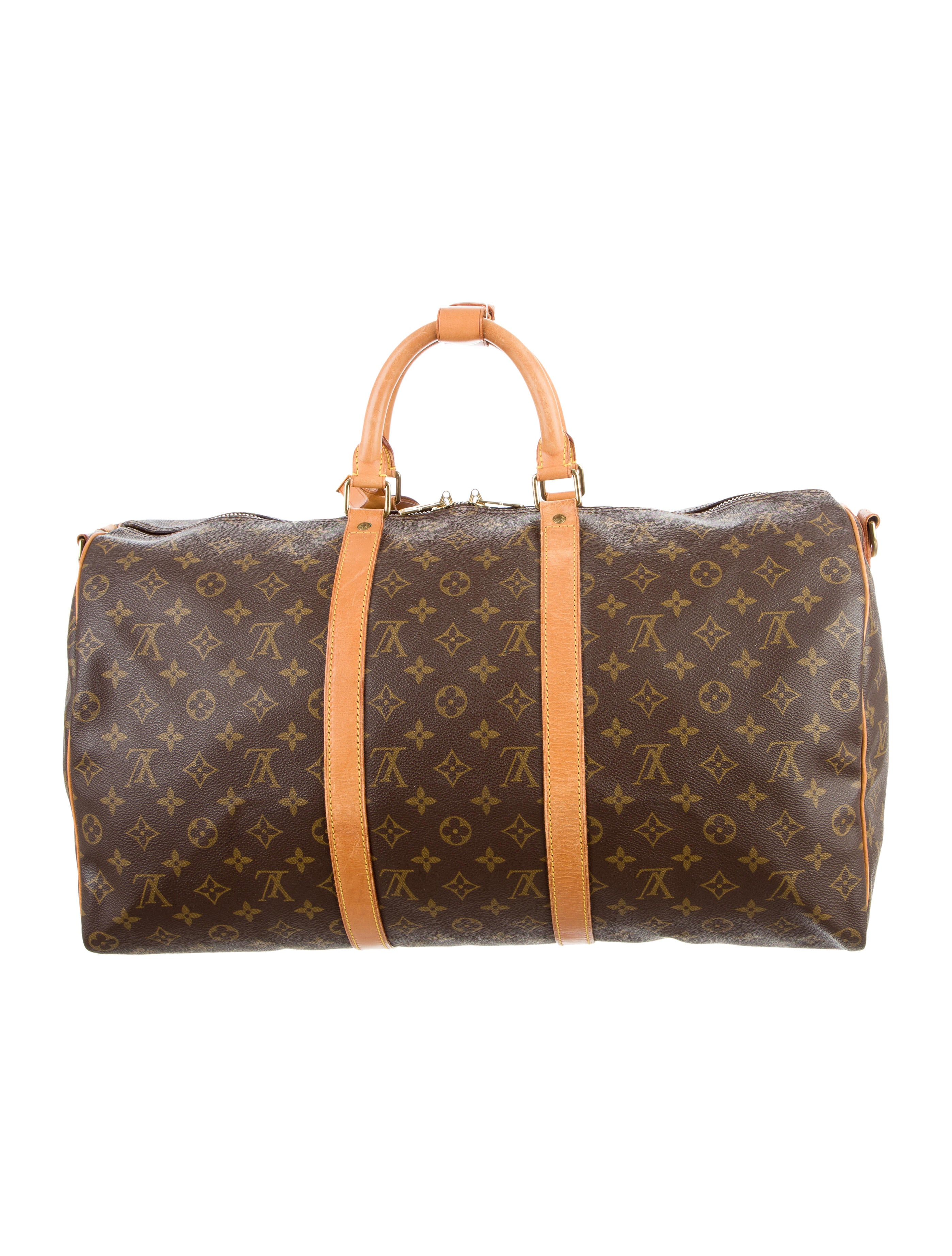louis vuitton monogram keepall bandouli re 50 bags lou120777 the realreal. Black Bedroom Furniture Sets. Home Design Ideas