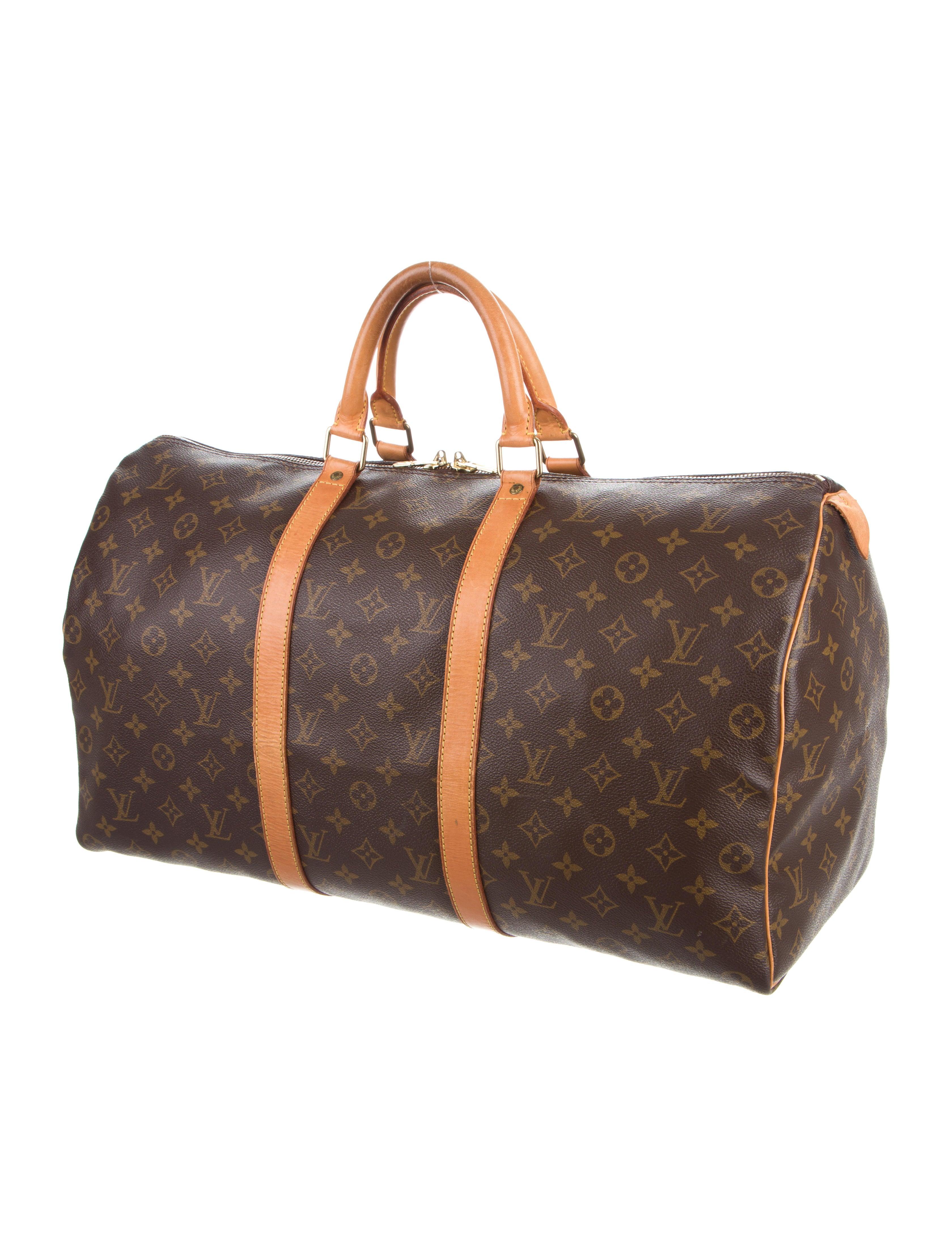 louis vuitton monogram keepall 50 handbags lou121238. Black Bedroom Furniture Sets. Home Design Ideas