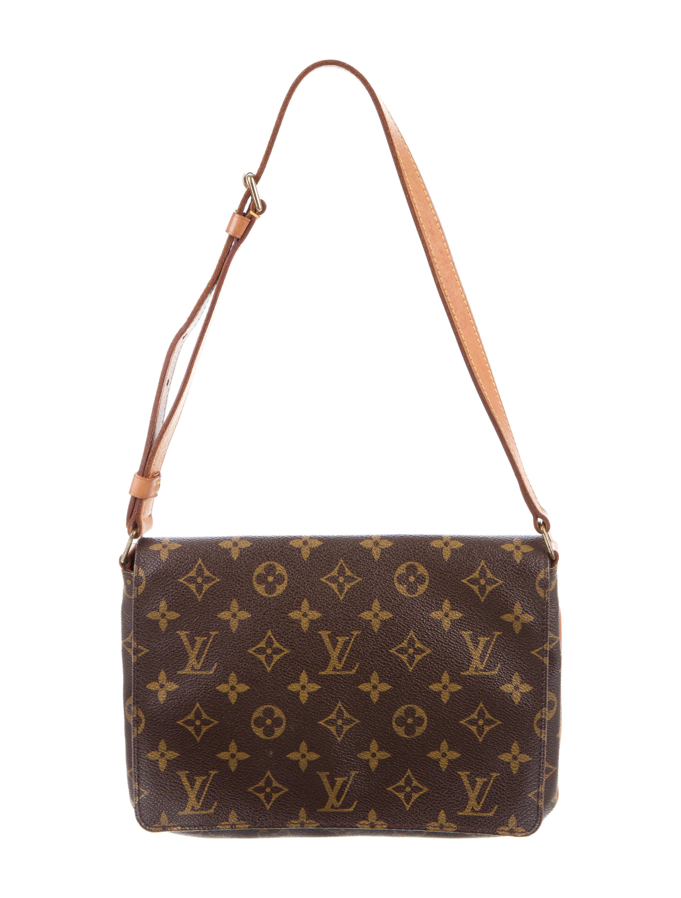 louis vuitton monogram musette tango bag handbags lou121526 the realreal. Black Bedroom Furniture Sets. Home Design Ideas
