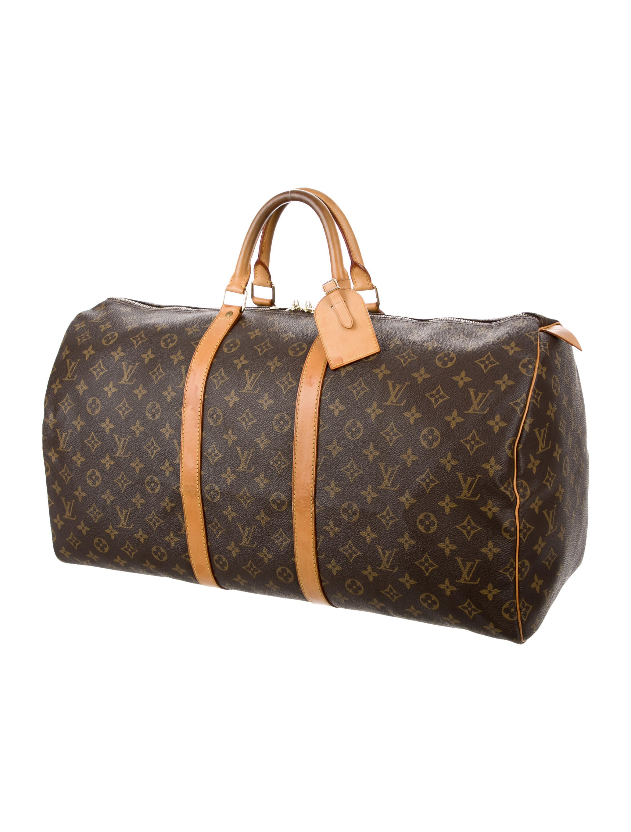 louis vuitton monogram keepall 55 bags lou121574 the realreal. Black Bedroom Furniture Sets. Home Design Ideas