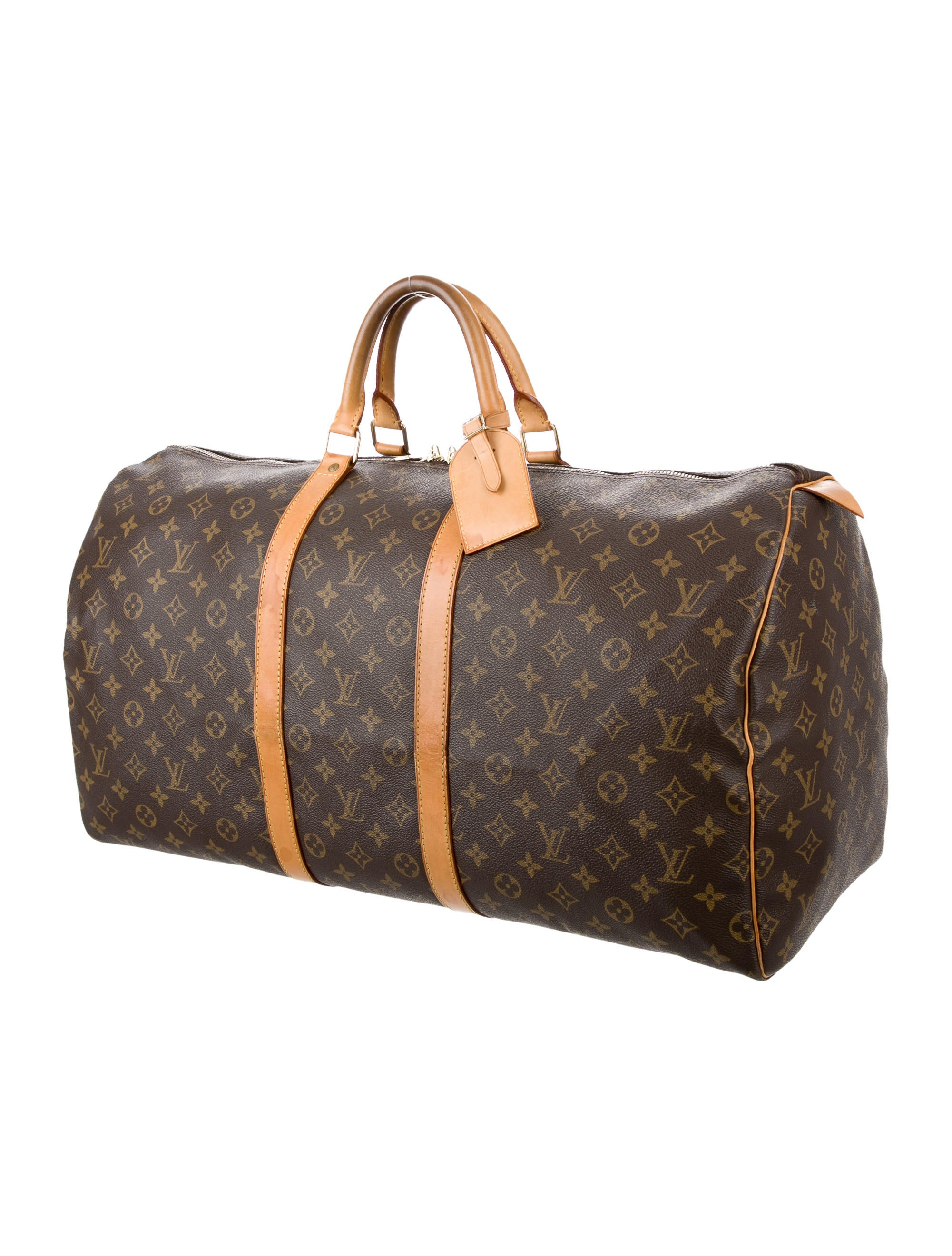 louis vuitton monogram keepall 55 bags lou121577 the realreal. Black Bedroom Furniture Sets. Home Design Ideas