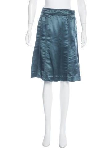 louis vuitton satin a line skirt clothing lou121785
