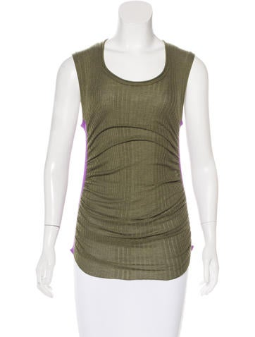 Louis Vuitton Rib Knit Sleeveless Top None