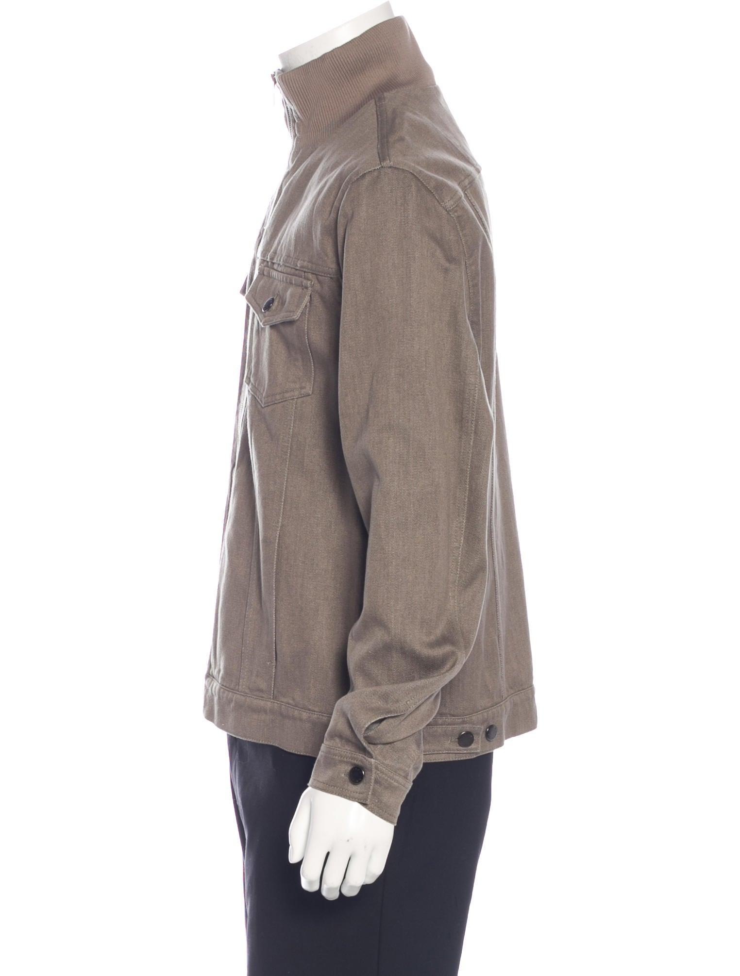 louis vuitton mock neck denim jacket clothing. Black Bedroom Furniture Sets. Home Design Ideas