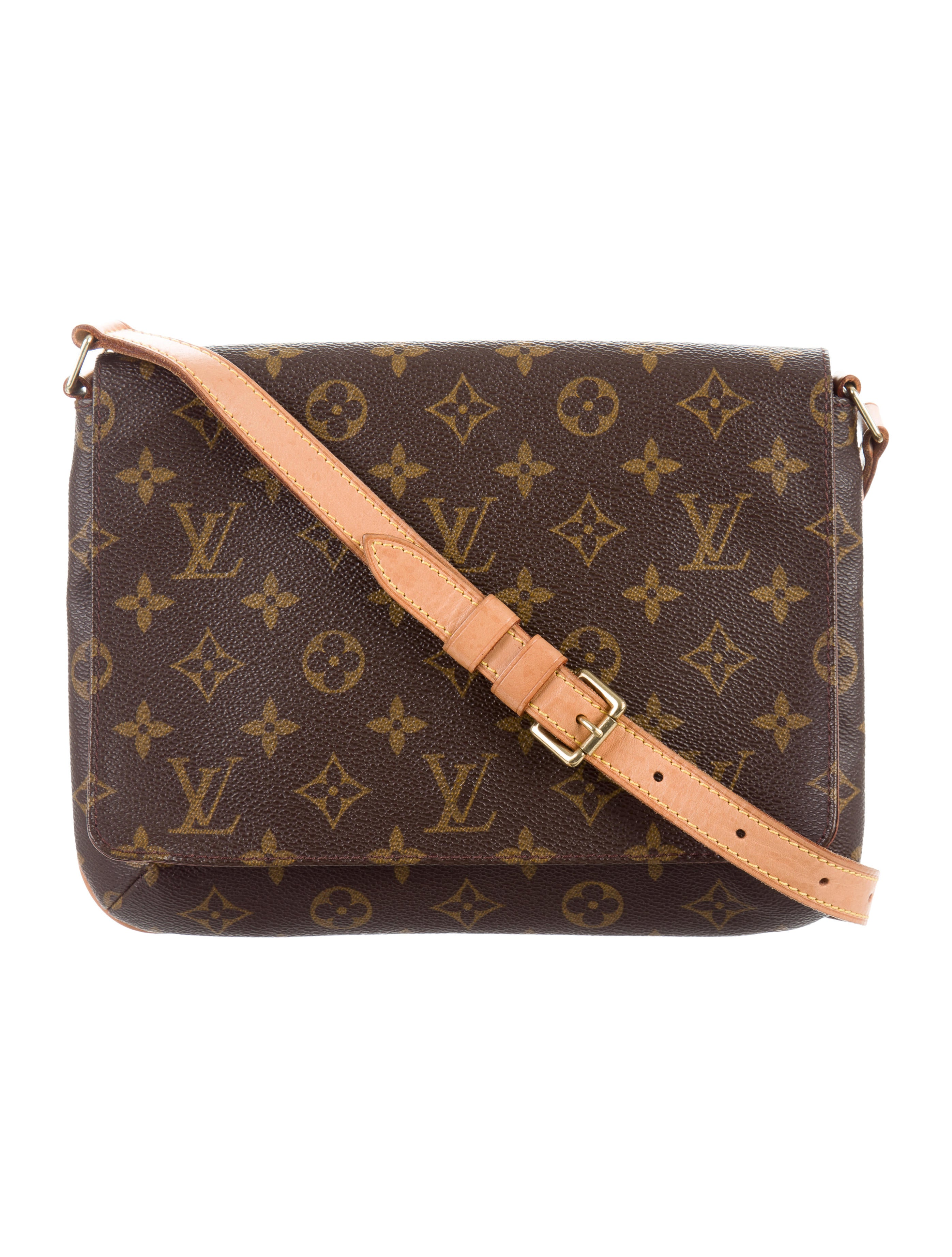 louis vuitton monogram musette tango bag handbags lou121955 the realreal. Black Bedroom Furniture Sets. Home Design Ideas