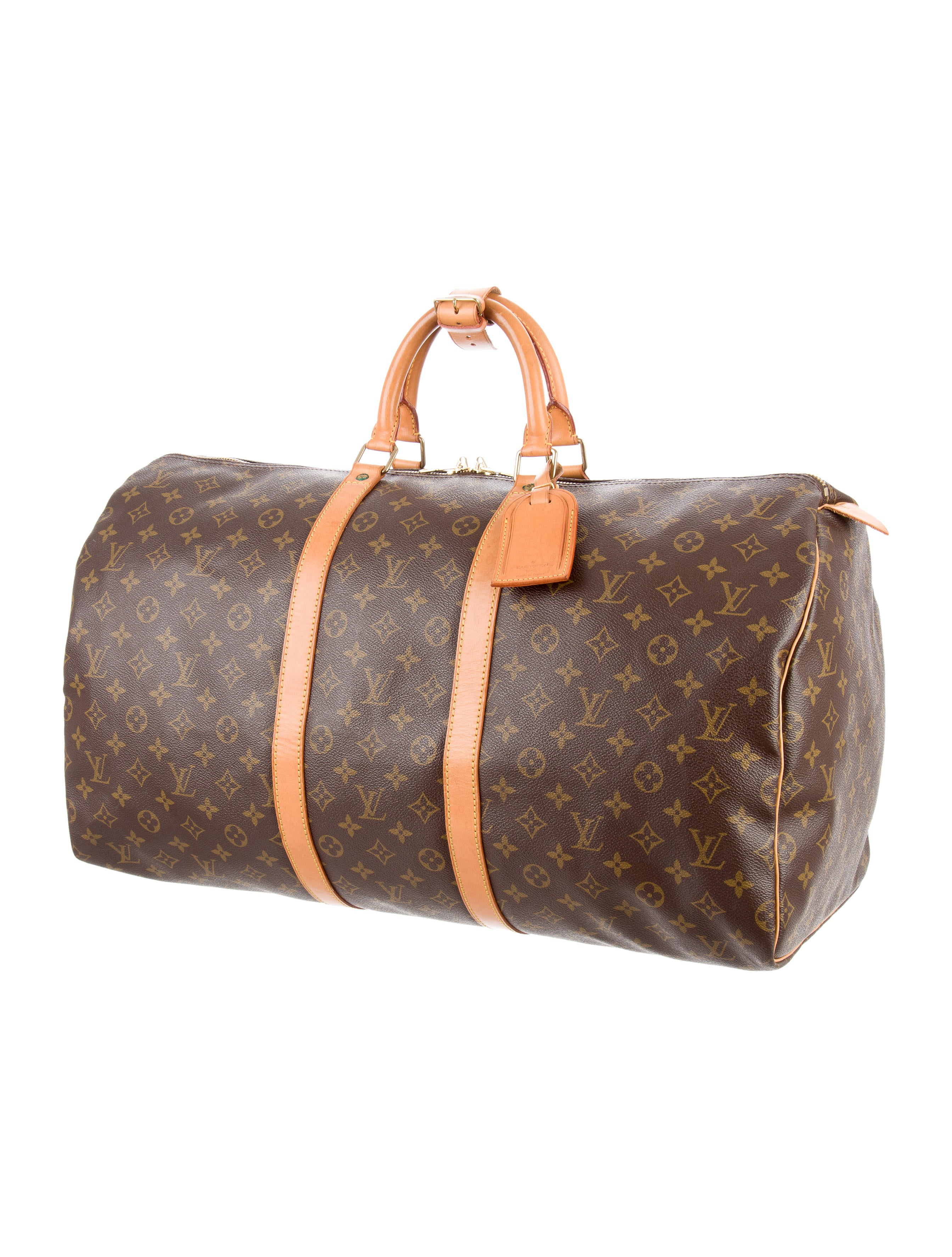 louis vuitton monogram keepall 55 handbags lou122020 the realreal. Black Bedroom Furniture Sets. Home Design Ideas