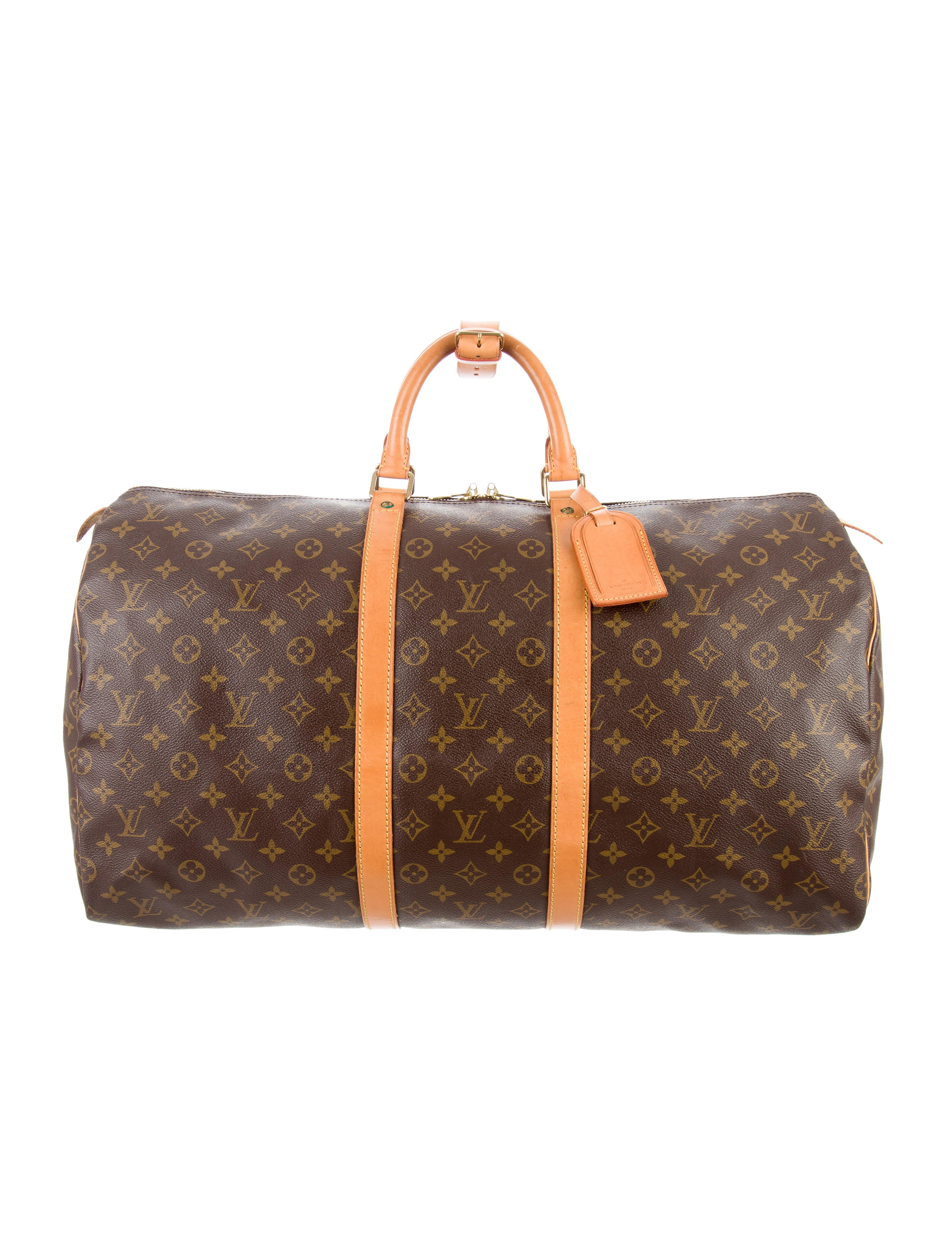 louis vuitton monogram keepall bandouli re 55 handbags lou122092 the realreal. Black Bedroom Furniture Sets. Home Design Ideas