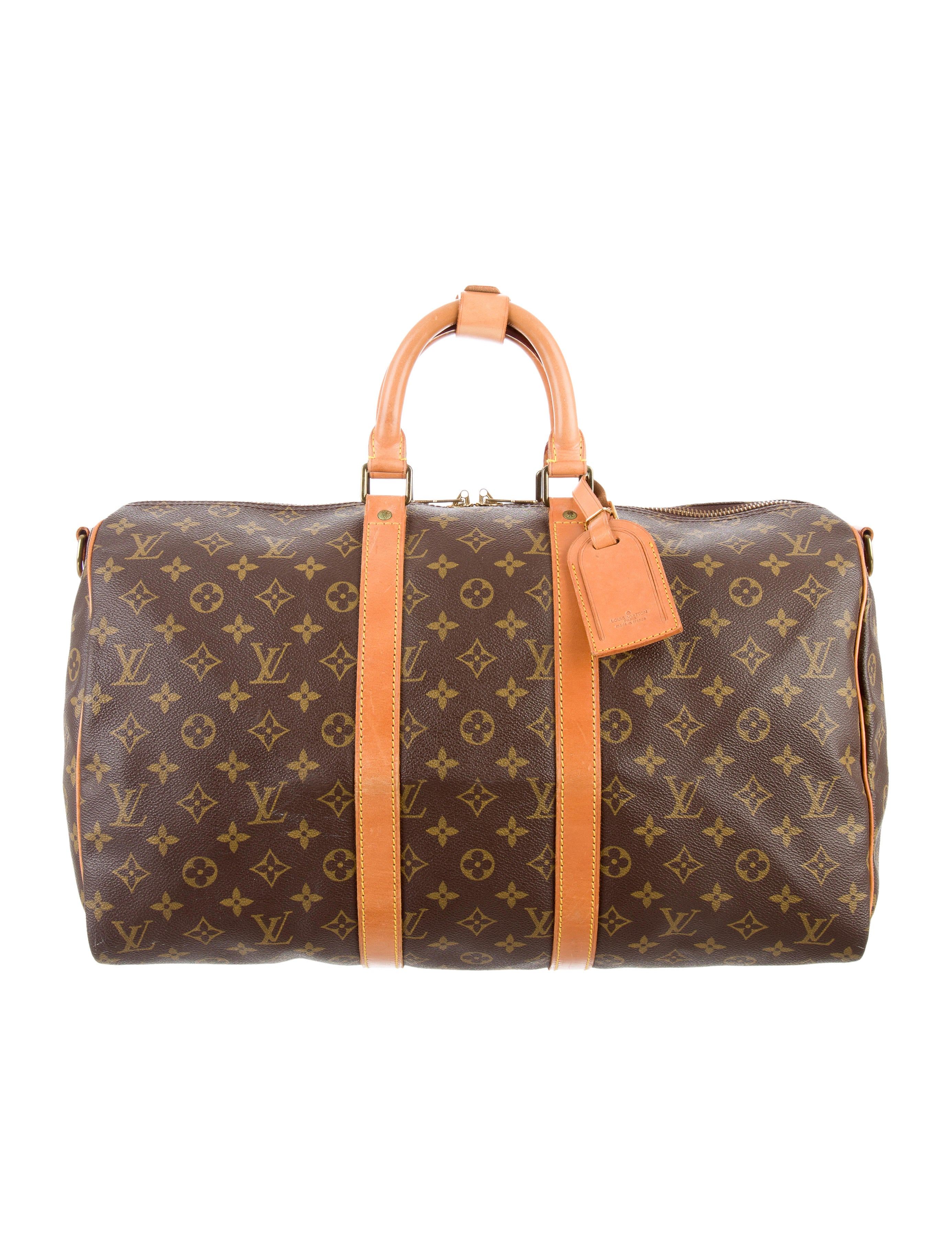 louis vuitton monogram keepall bandouli re 45 handbags lou122104 the realreal. Black Bedroom Furniture Sets. Home Design Ideas