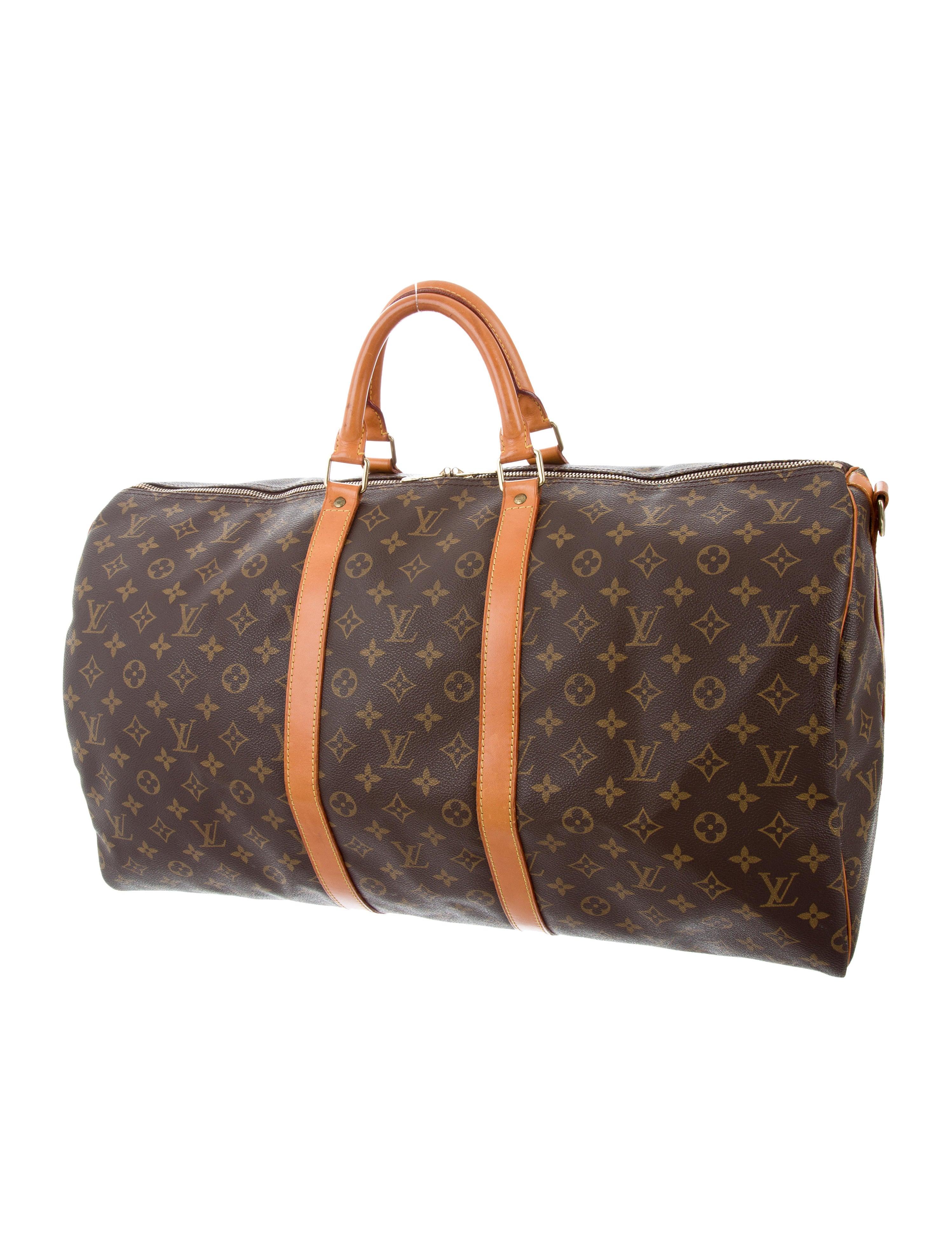 louis vuitton monogram keepall bandouli re 55 bags lou122213 the realreal. Black Bedroom Furniture Sets. Home Design Ideas