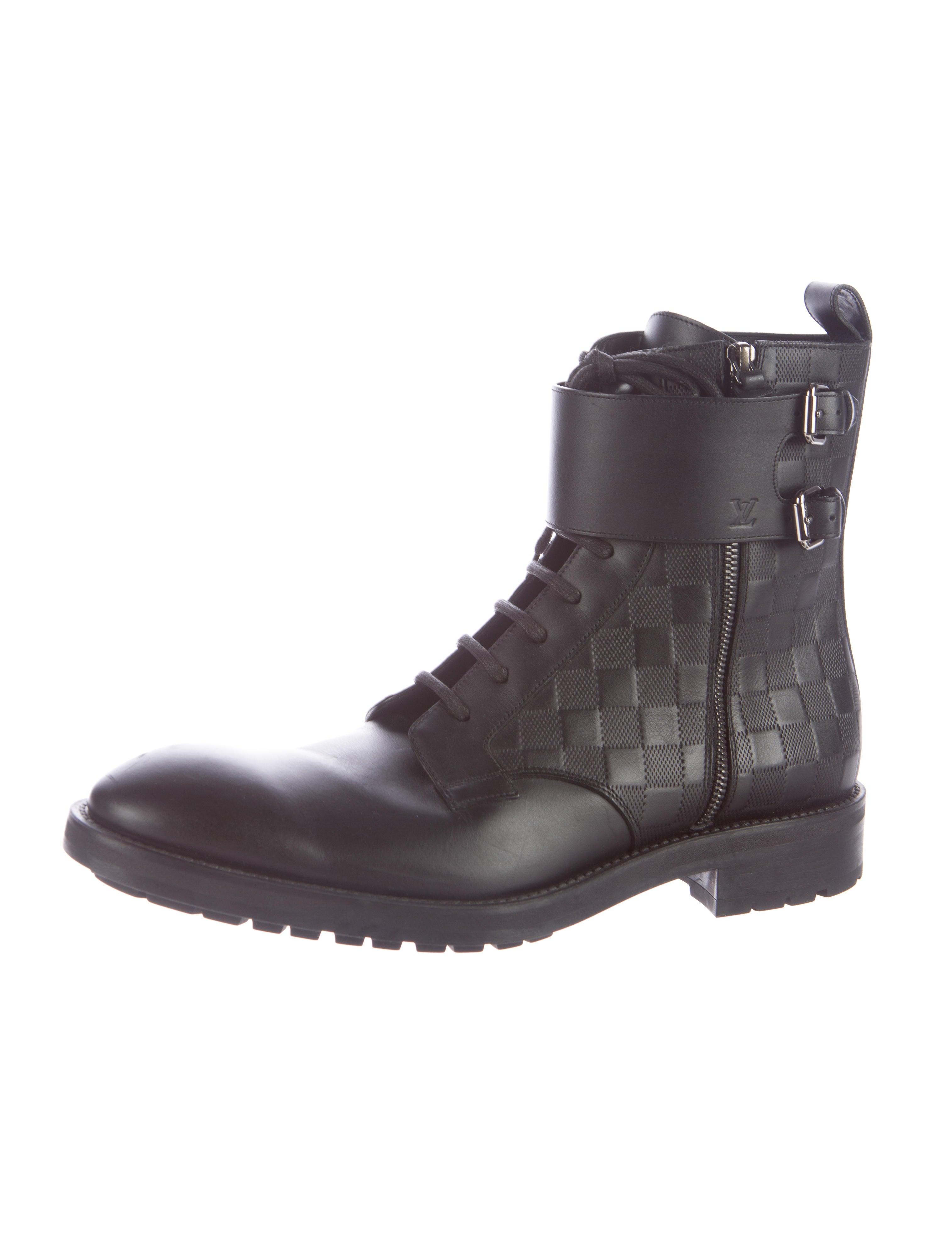 b9c891decfb Louis Vuitton Damier Leather Combat Boots - Shoes .