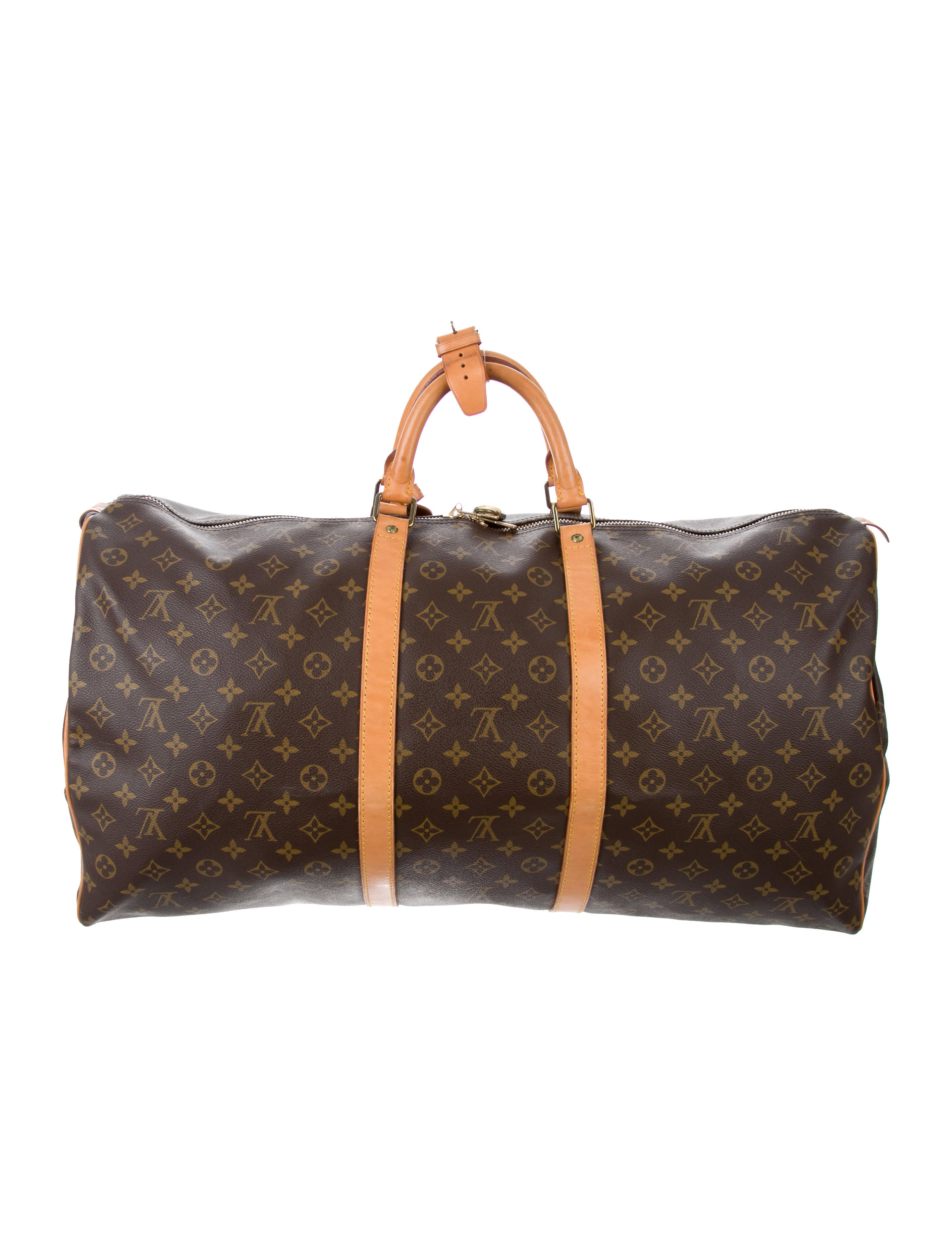 louis vuitton monogram keepall 60 bags lou122335 the realreal. Black Bedroom Furniture Sets. Home Design Ideas