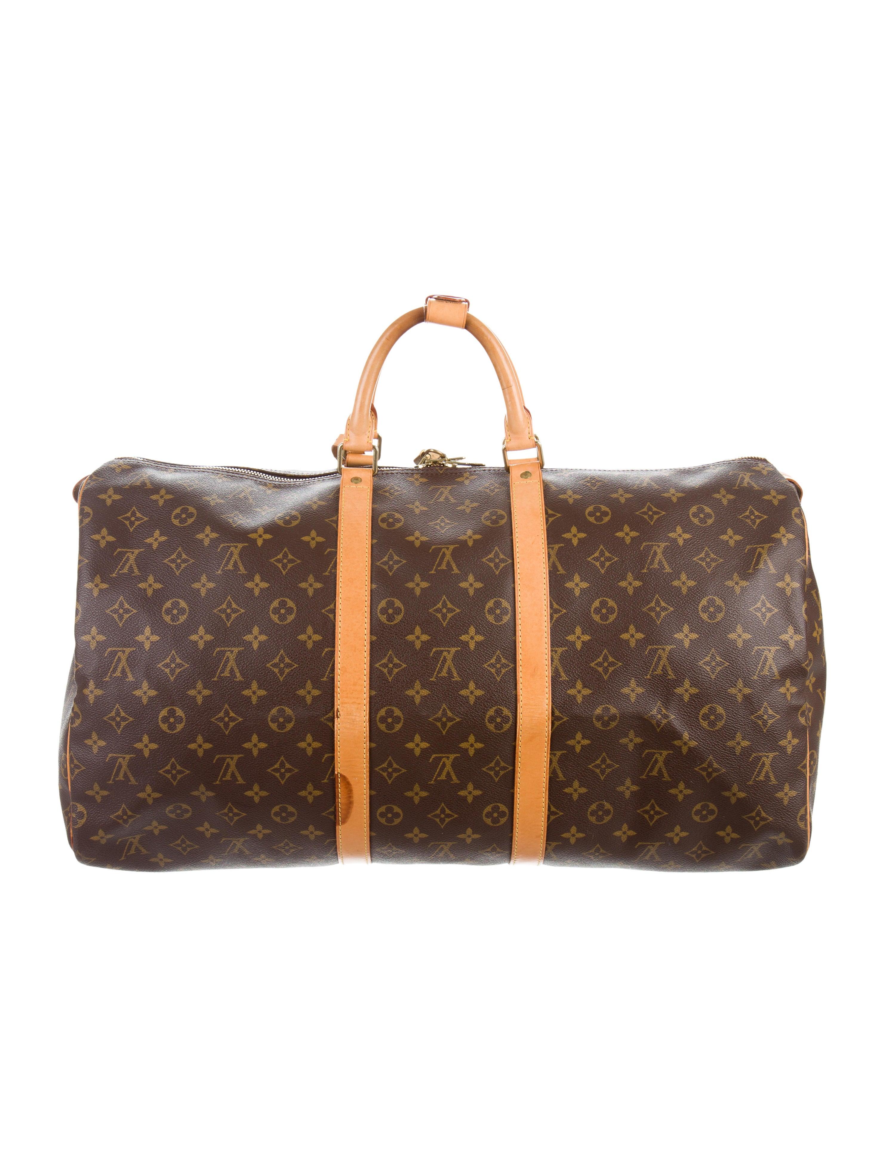 louis vuitton monogram keepall 55 bags lou122341 the realreal. Black Bedroom Furniture Sets. Home Design Ideas