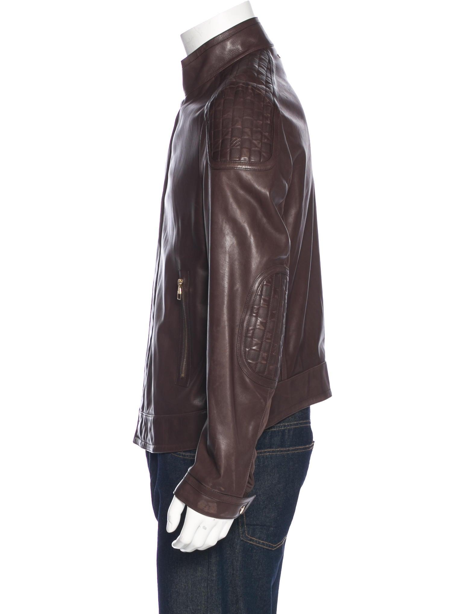 louis vuitton damier paneled moto jacket clothing. Black Bedroom Furniture Sets. Home Design Ideas