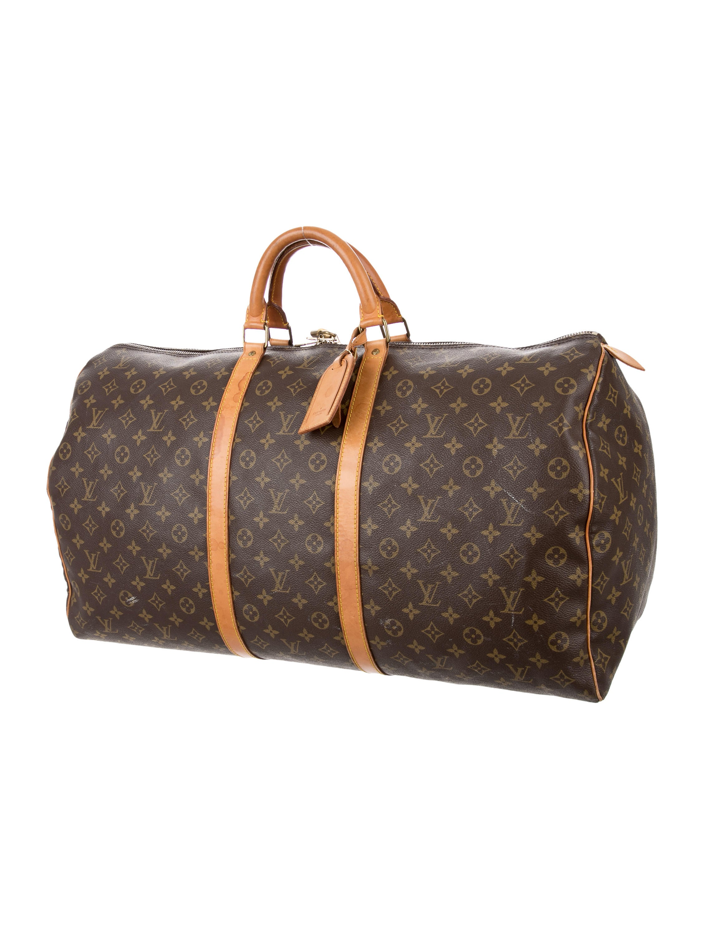louis vuitton monogram keepall 60 luggage lou123051 the realreal. Black Bedroom Furniture Sets. Home Design Ideas