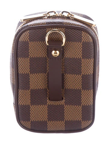 louis vuitton damier ebene etui okapi camera case pm. Black Bedroom Furniture Sets. Home Design Ideas