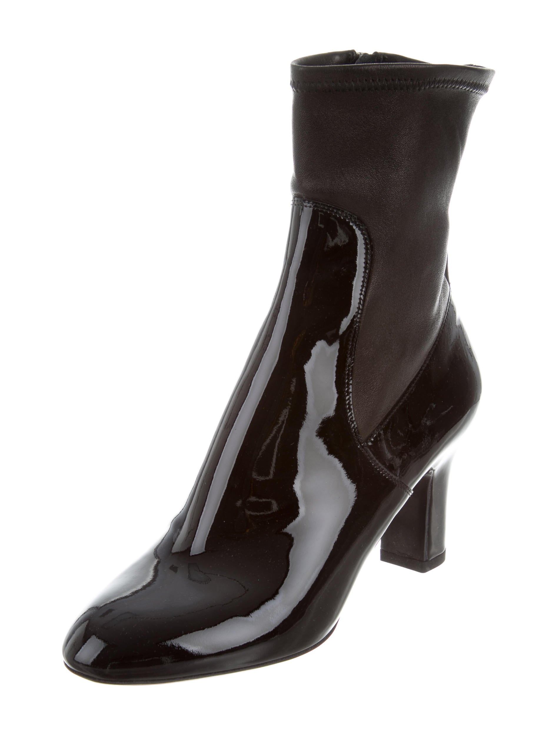 louis vuitton patent leather ankle boots shoes