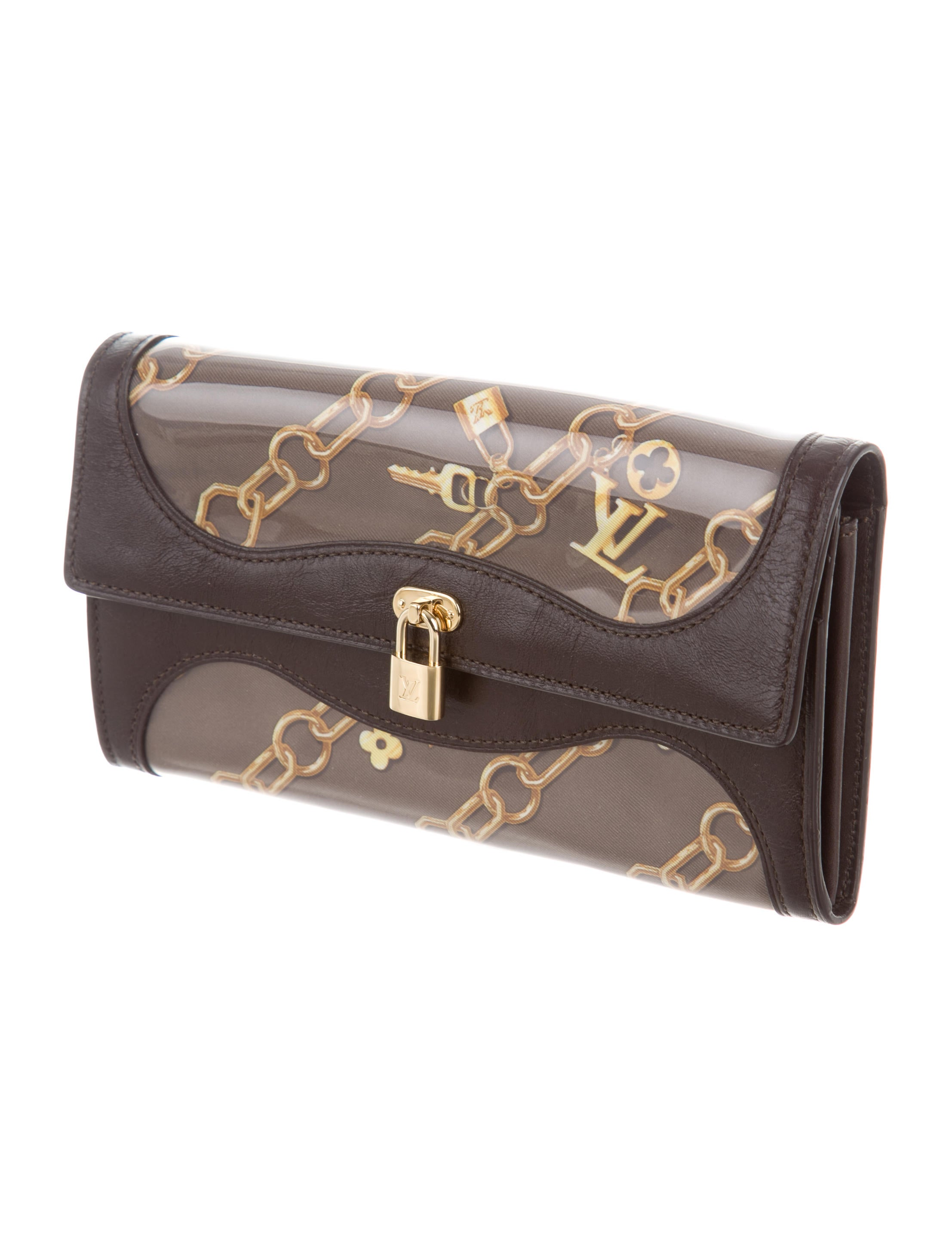 Louis vuitton charms porte monnaie wallet accessories for Porte monnaie