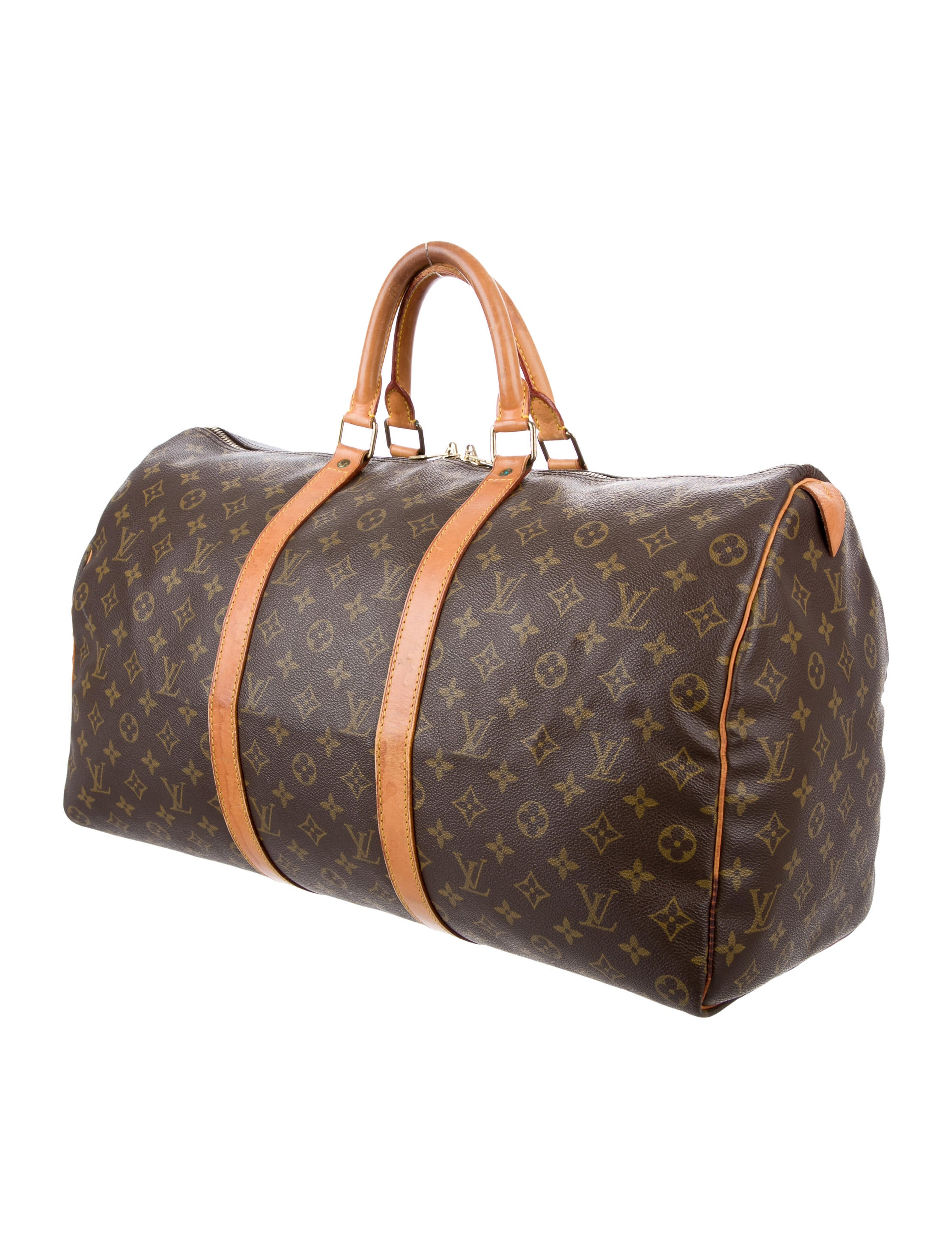 louis vuitton monogram keepall 50 handbags lou123832 the realreal. Black Bedroom Furniture Sets. Home Design Ideas