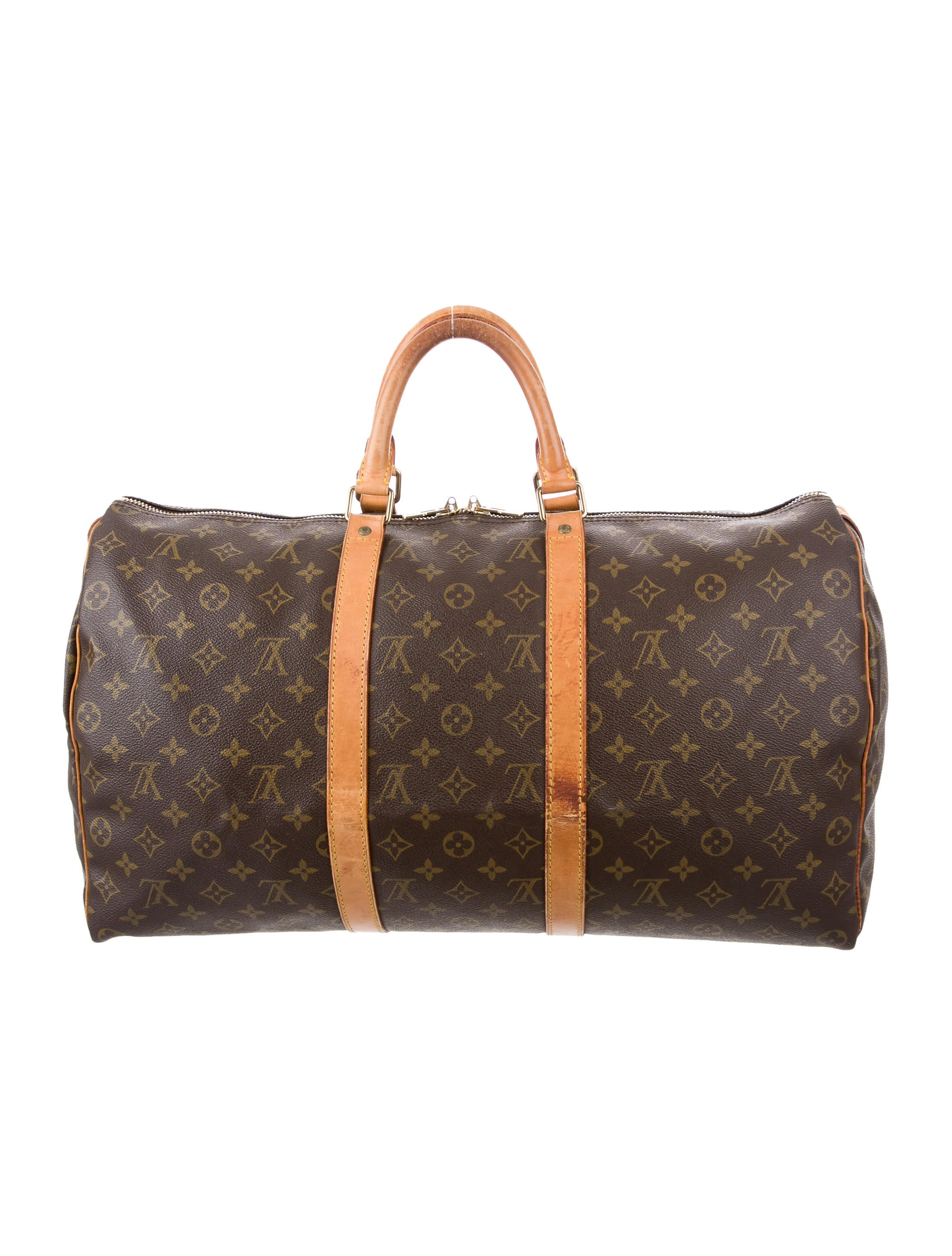 louis vuitton monogram keepall 50 handbags lou123834 the realreal. Black Bedroom Furniture Sets. Home Design Ideas