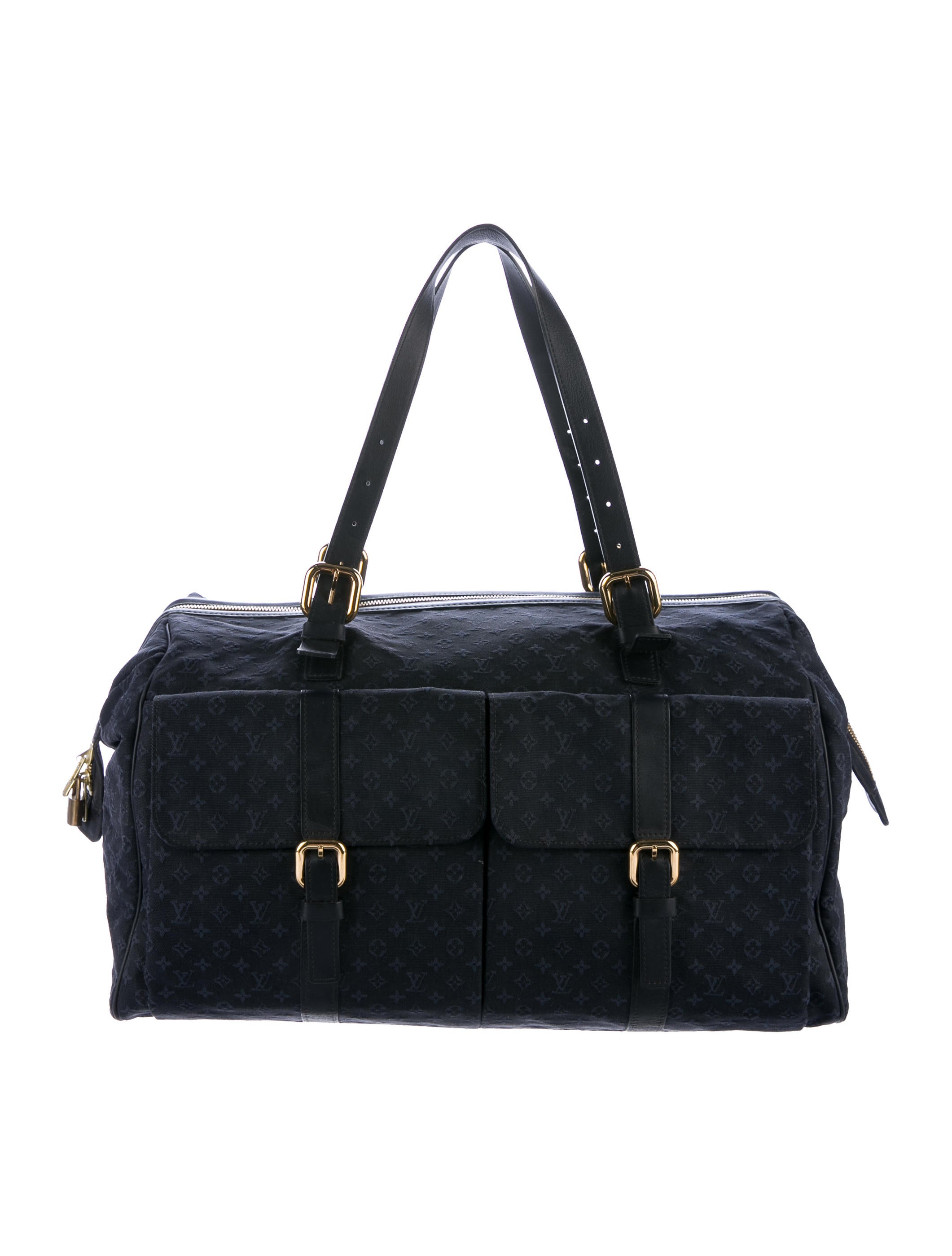 louis vuitton mini lin louise weekender bag bags lou123964 the realreal. Black Bedroom Furniture Sets. Home Design Ideas