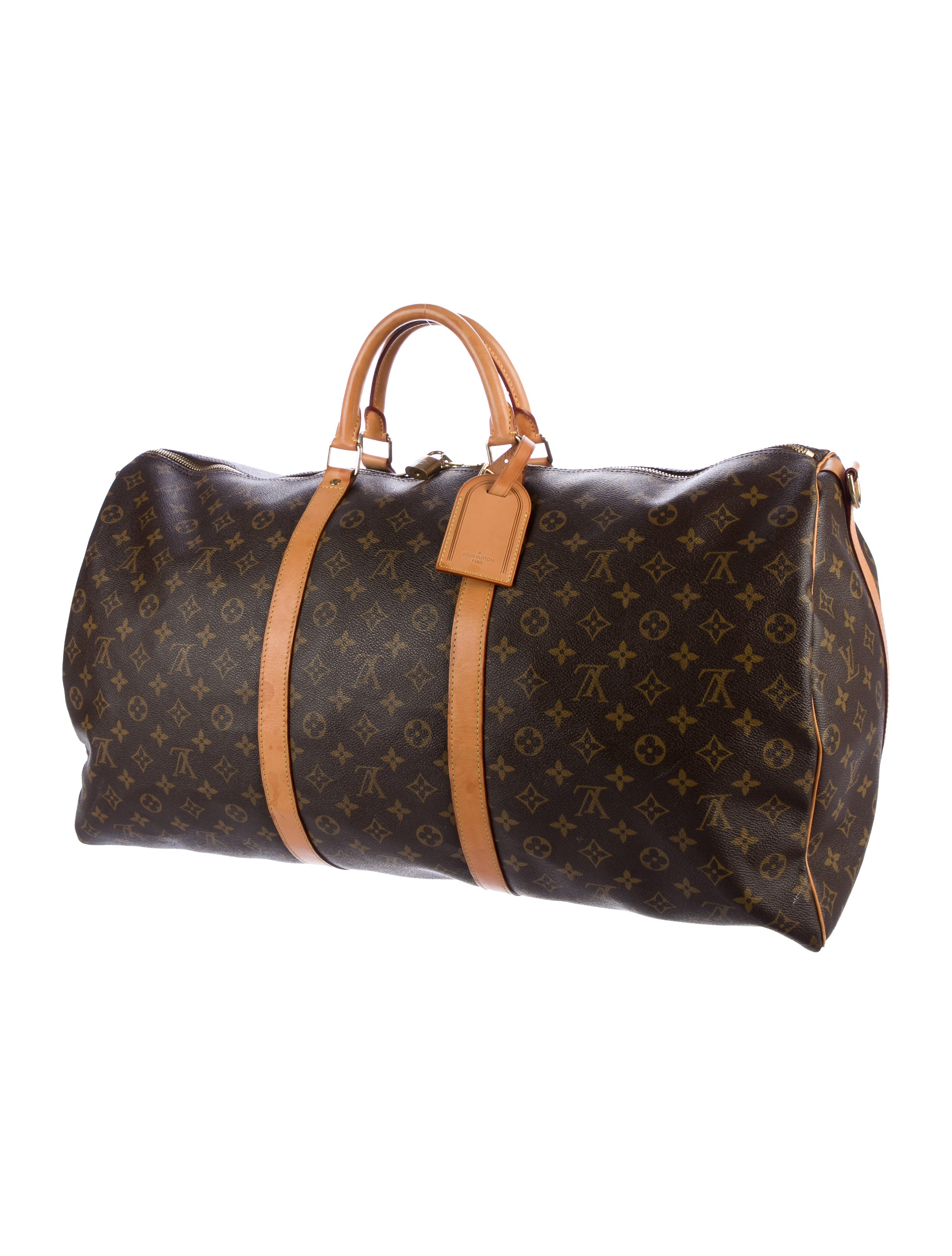 louis vuitton monogram keepall bandouli re 60 bags lou124139 the realreal. Black Bedroom Furniture Sets. Home Design Ideas