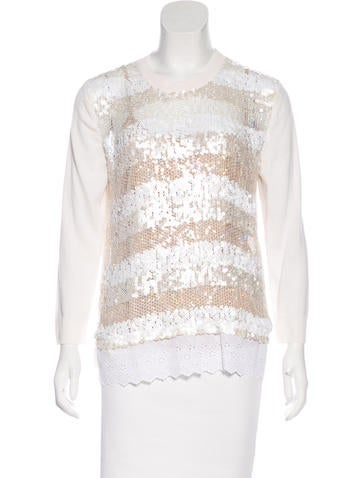 Louis Vuitton Wool Sequined Sweater None