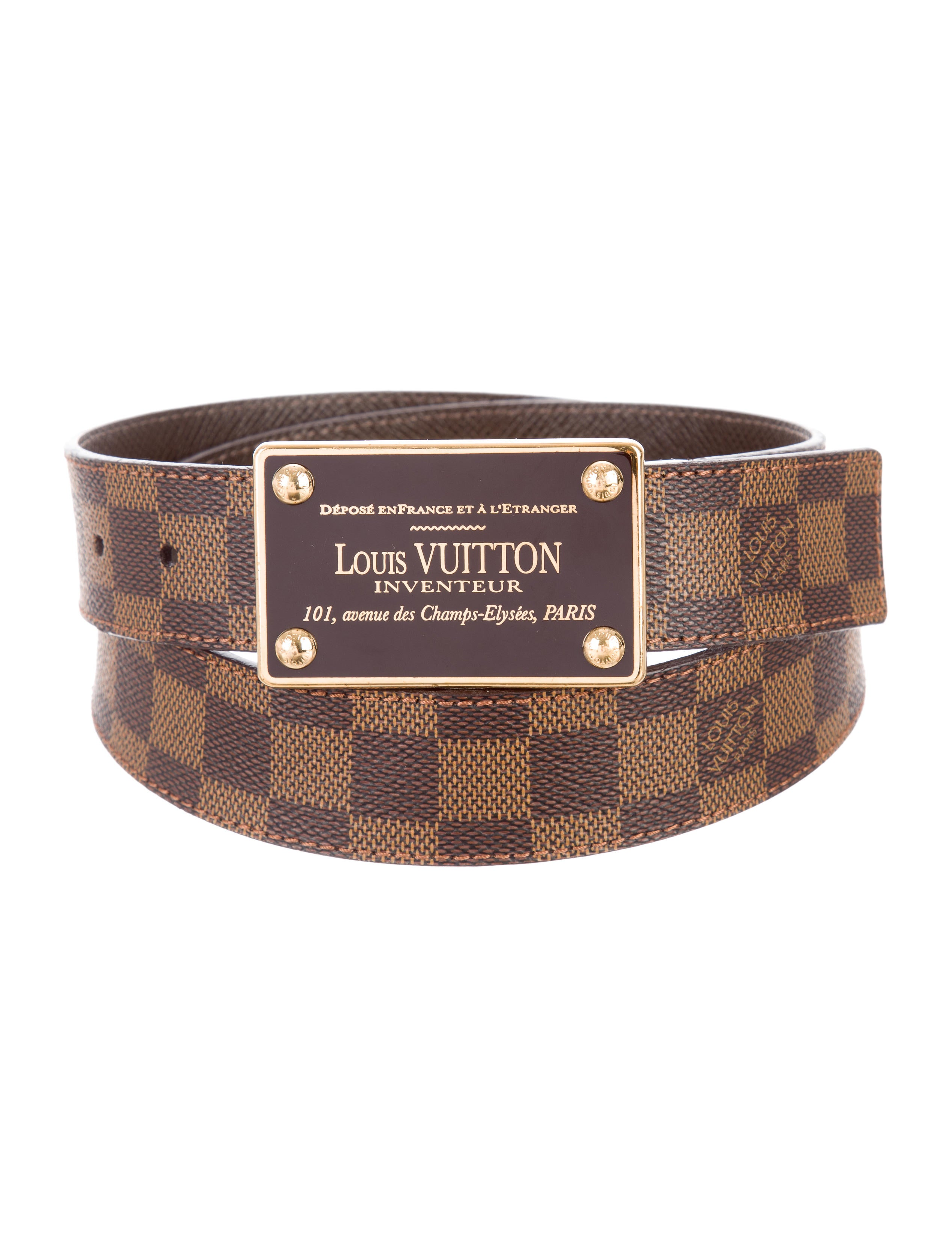 cae874a0a00d Louis Vuitton Damier Ebene LV Inventeur 35MM Reversible Belt ...