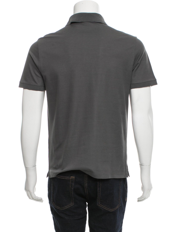 Louis vuitton logo embroidered polo shirt clothing for Shirt with logo embroidered