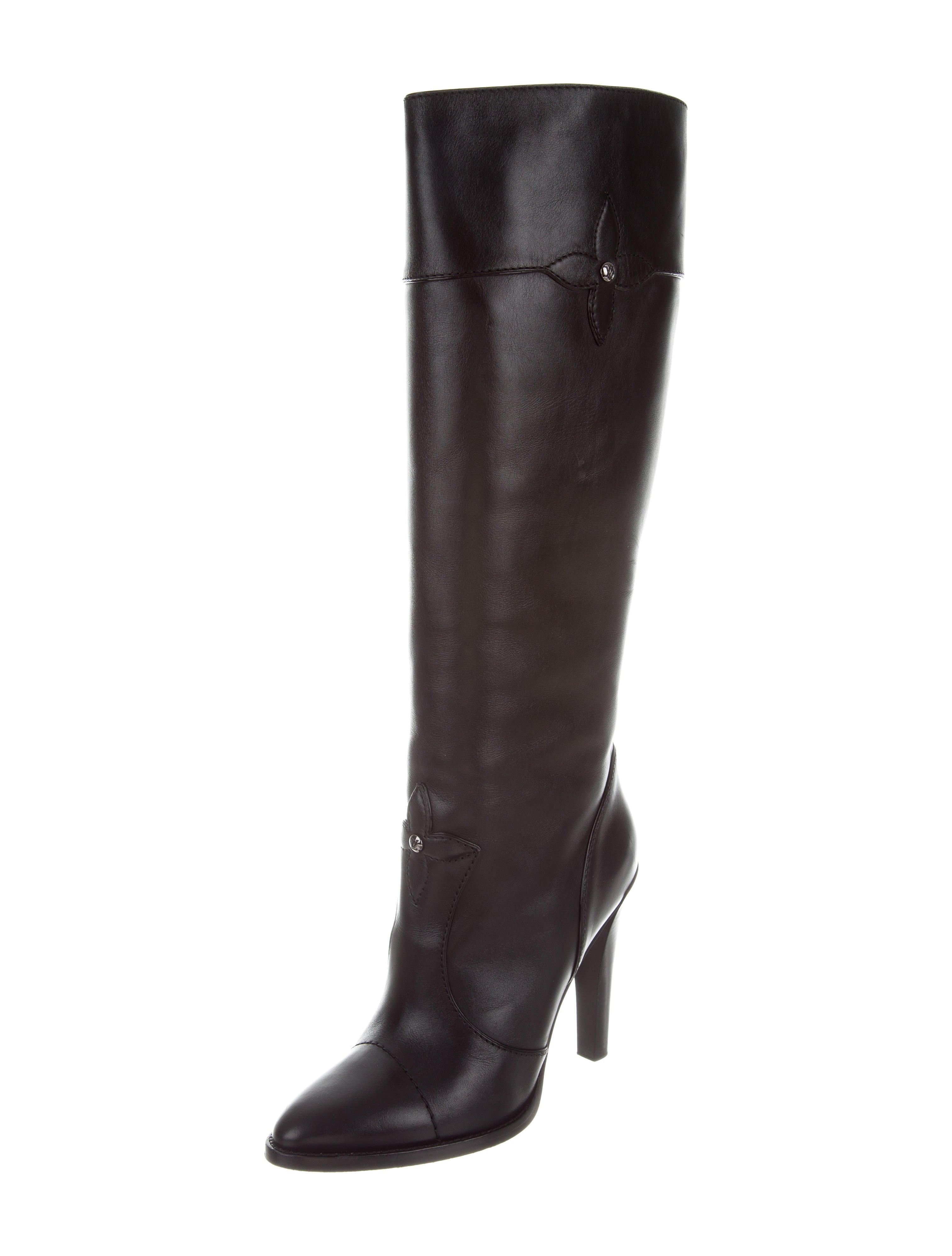 3004d3098fc Louis Vuitton Leather Knee-High Boots - Shoes - LOU125000 .
