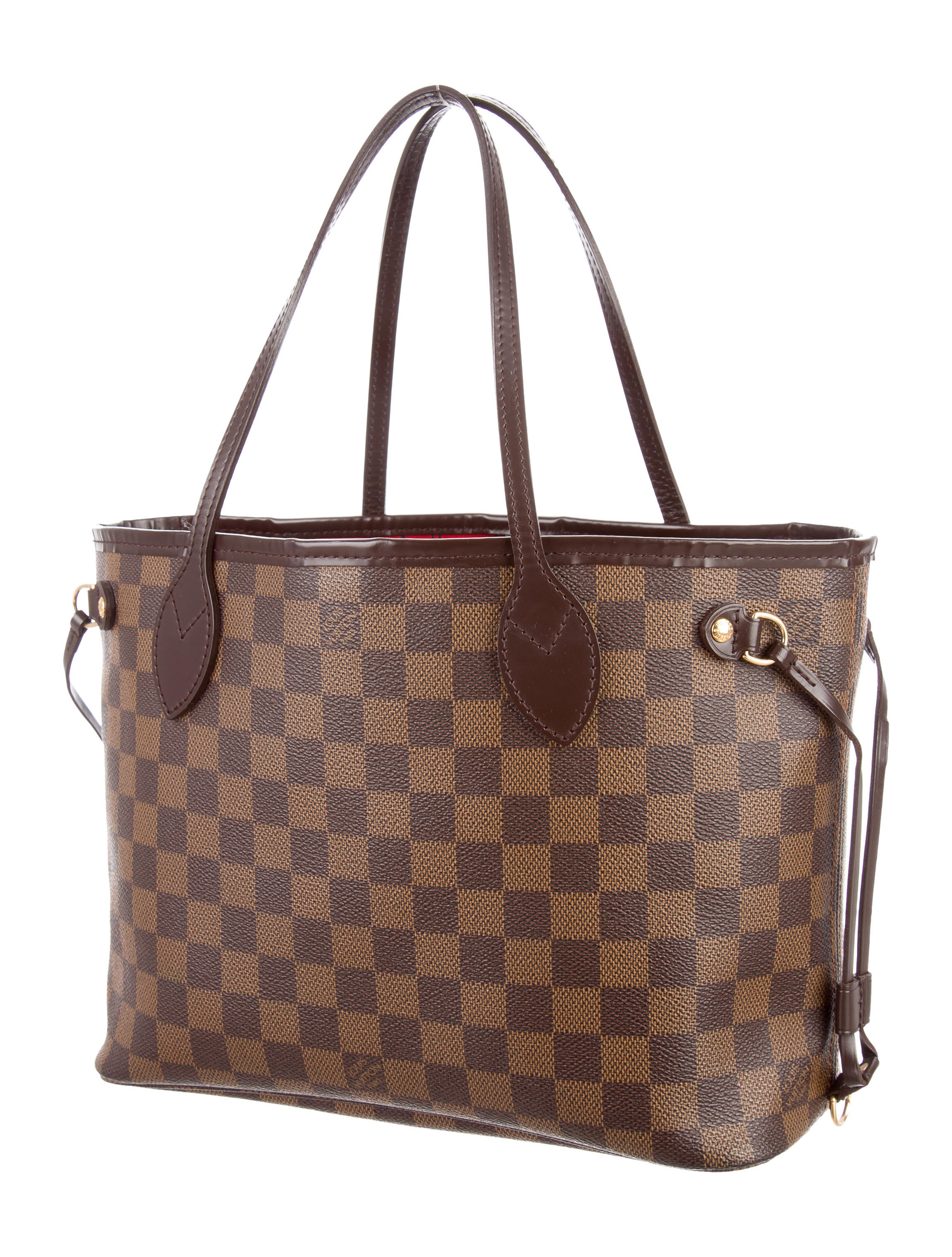 Brown Leather Dining Room Chairs Louis Vuitton Damier Ebene Neverfull Pm Handbags
