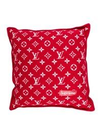Louis Vuitton X Supreme 2017 Monogram Pillow - Bedding & Bath