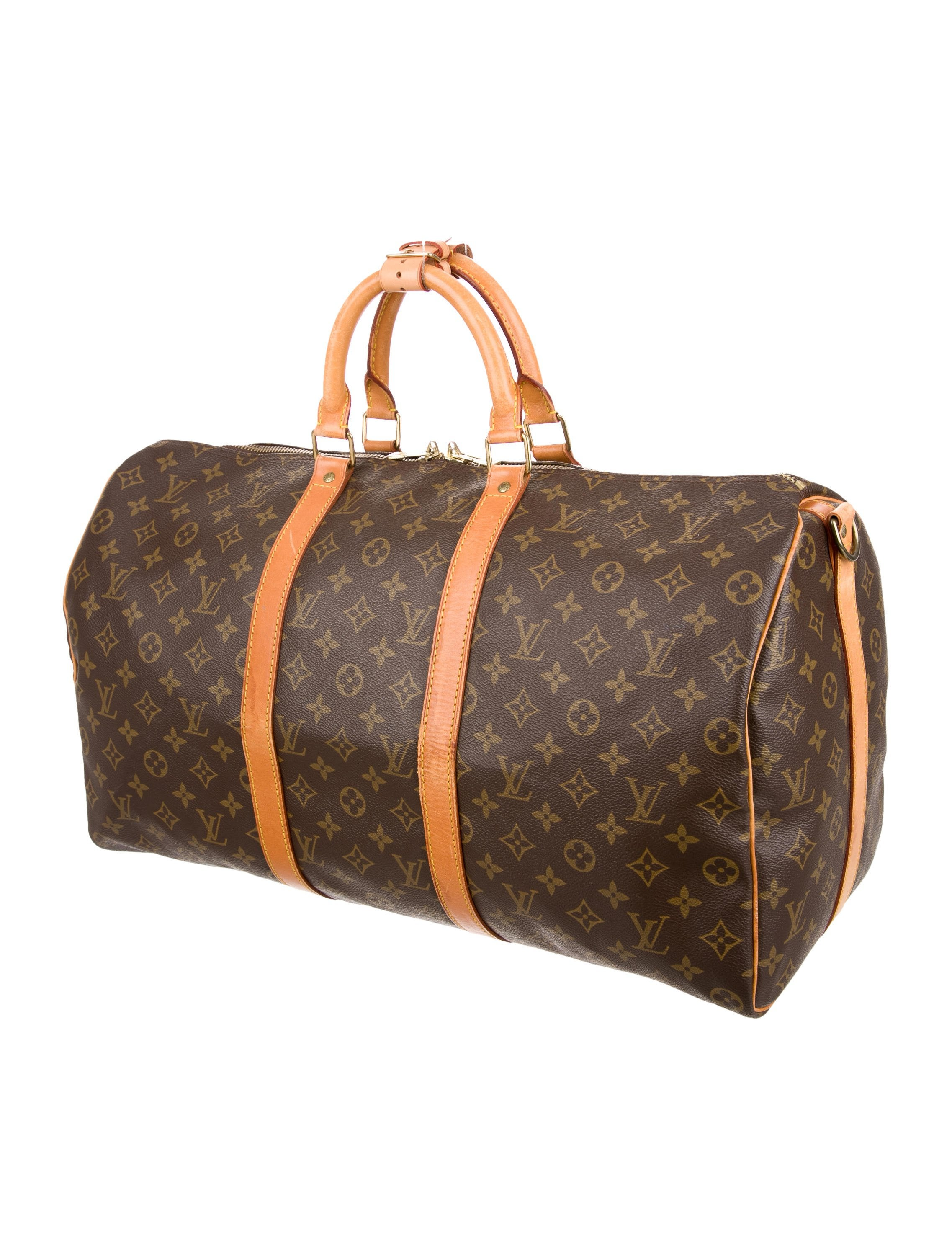 louis vuitton monogram keepall 50 handbags lou125844 the realreal. Black Bedroom Furniture Sets. Home Design Ideas