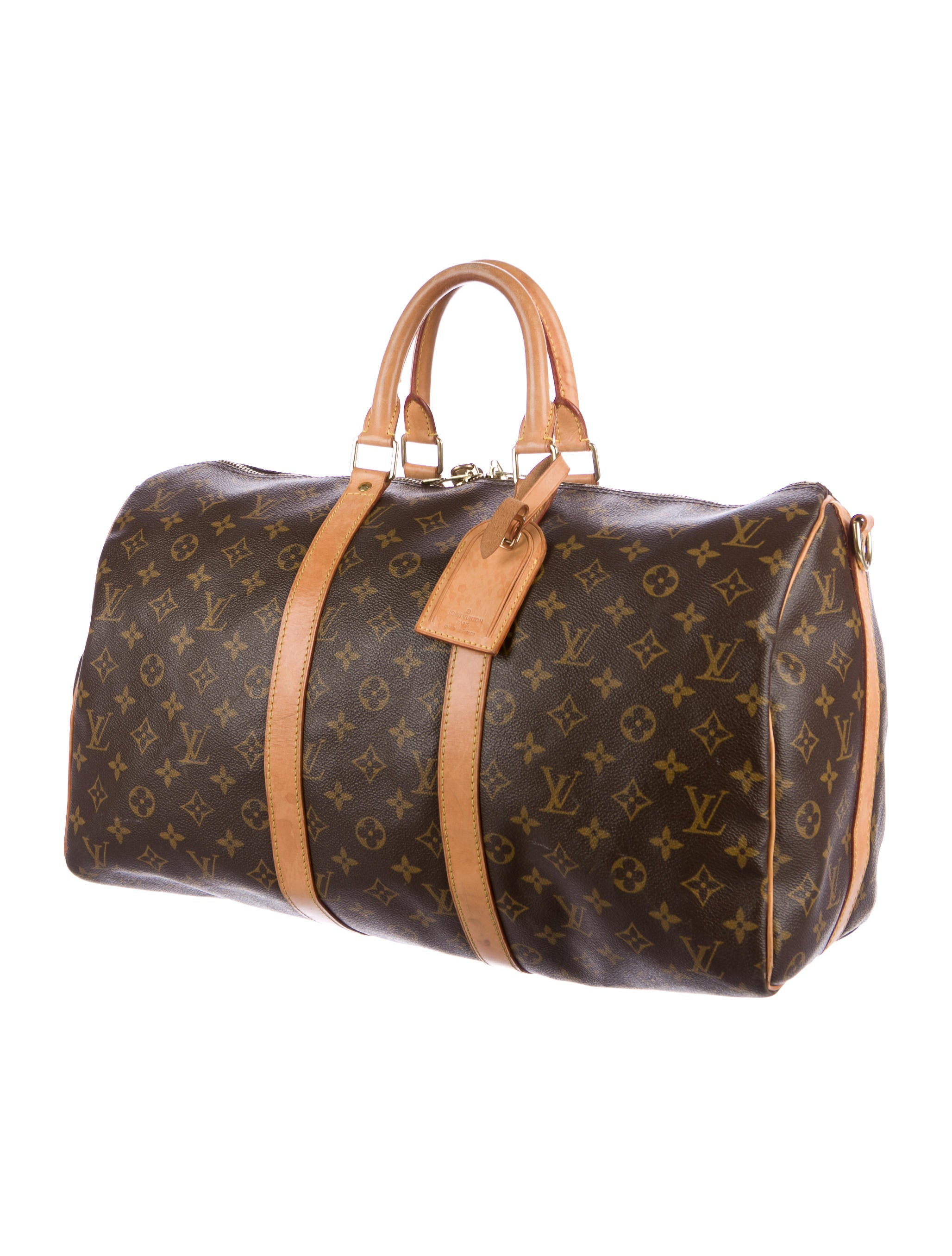 louis vuitton monogram keepall bandouli re 45 bags lou125889 the realreal. Black Bedroom Furniture Sets. Home Design Ideas