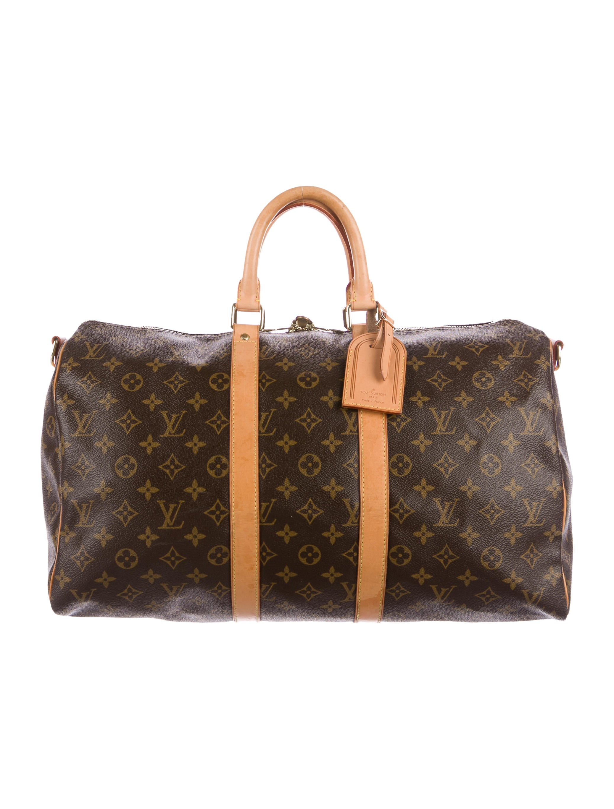 louis vuitton monogram keepall bandouli re 45 bags lou126171 the realreal. Black Bedroom Furniture Sets. Home Design Ideas