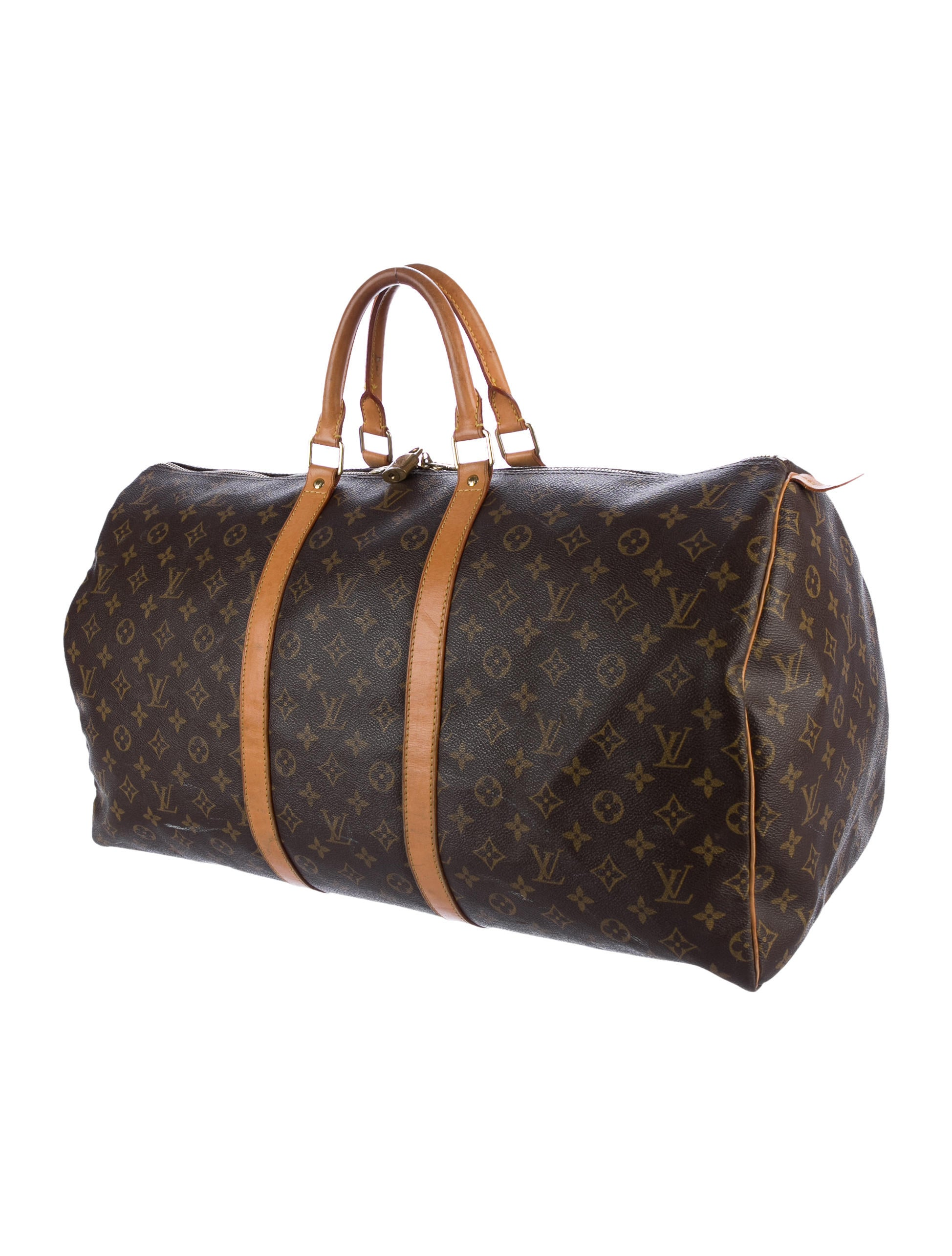 louis vuitton monogram keepall 55 bags lou126174 the realreal. Black Bedroom Furniture Sets. Home Design Ideas