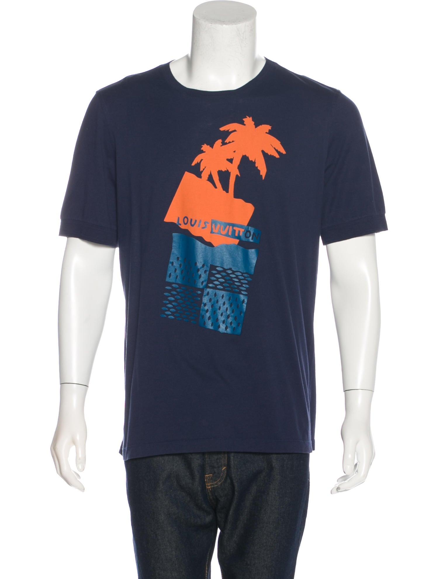 Louis vuitton graphic print t shirt clothing lou126194 for T shirt graphic printing