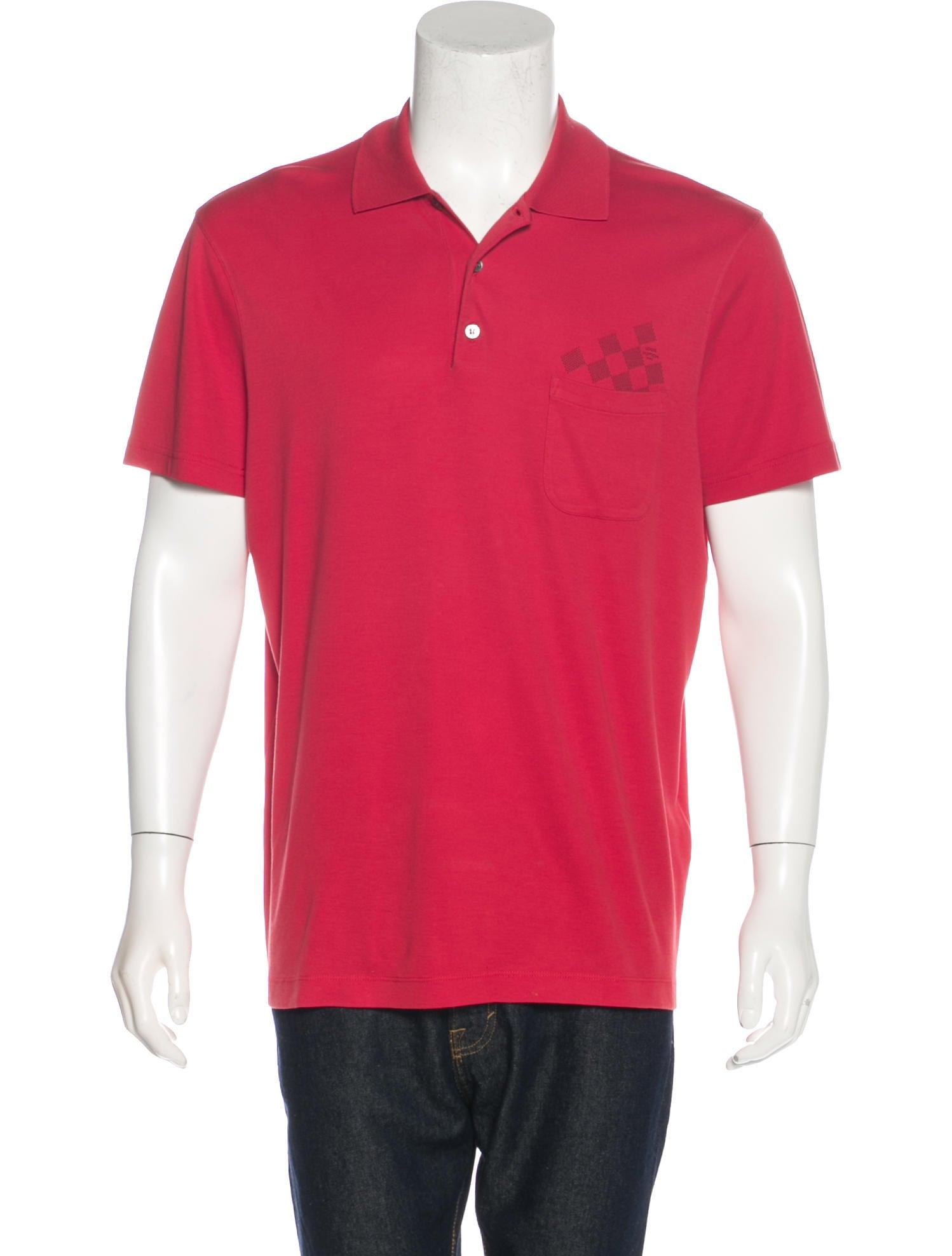 Louis Vuitton Mens Damier Polo Shirt T Shirt Design 2018