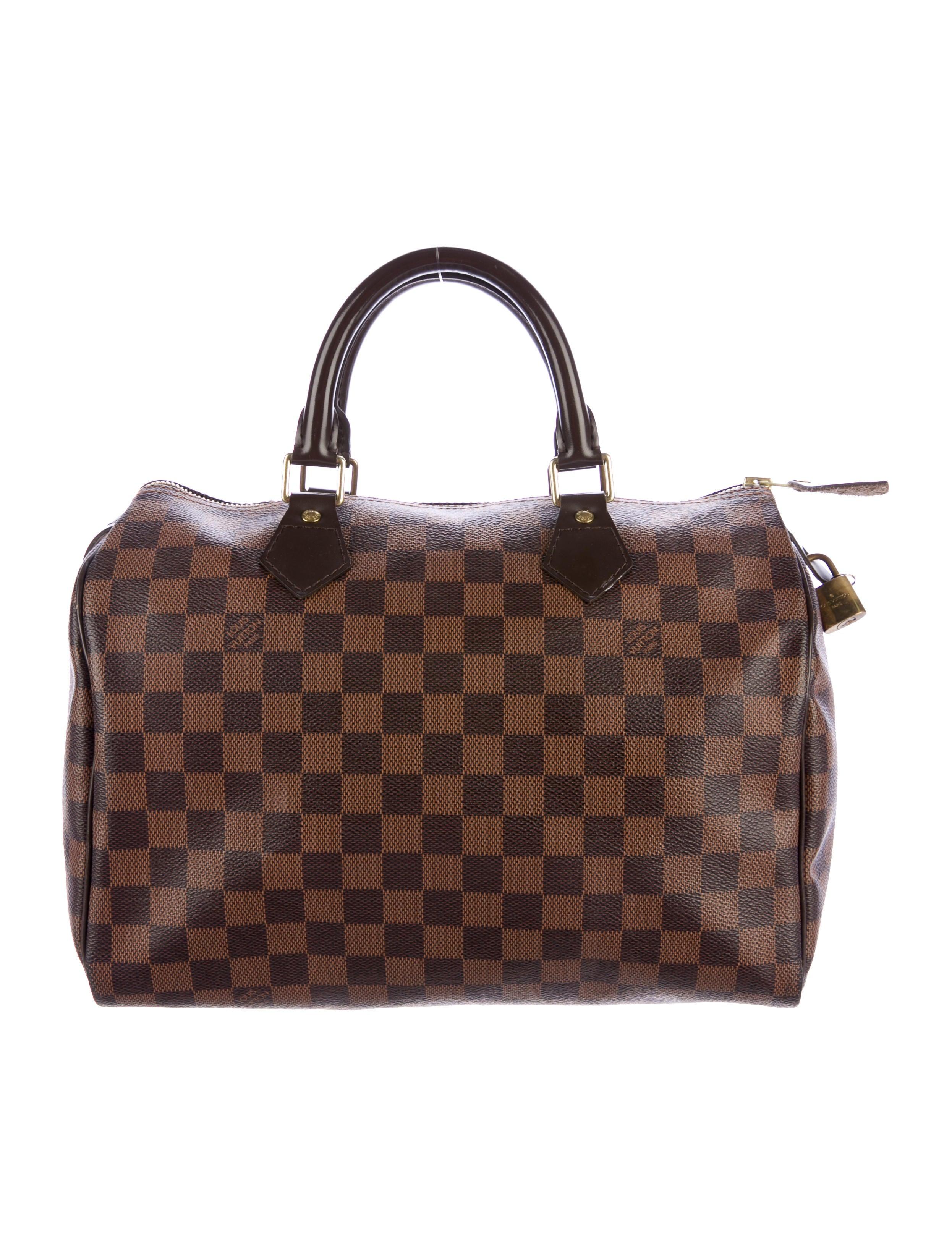 louis vuitton damier speedy 30 handbags lou126752. Black Bedroom Furniture Sets. Home Design Ideas