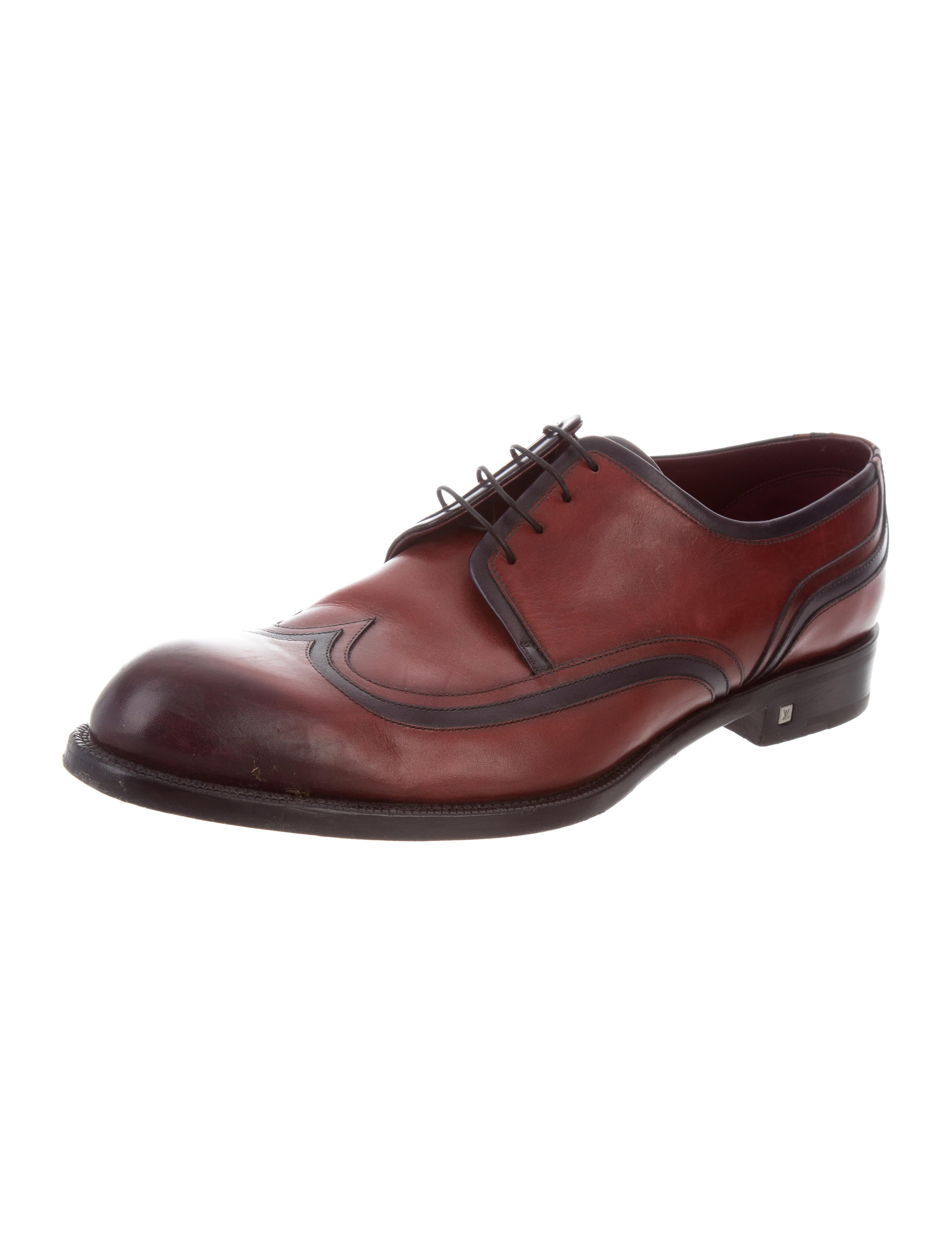 louis vuitton leather wingtip derby shoes shoes